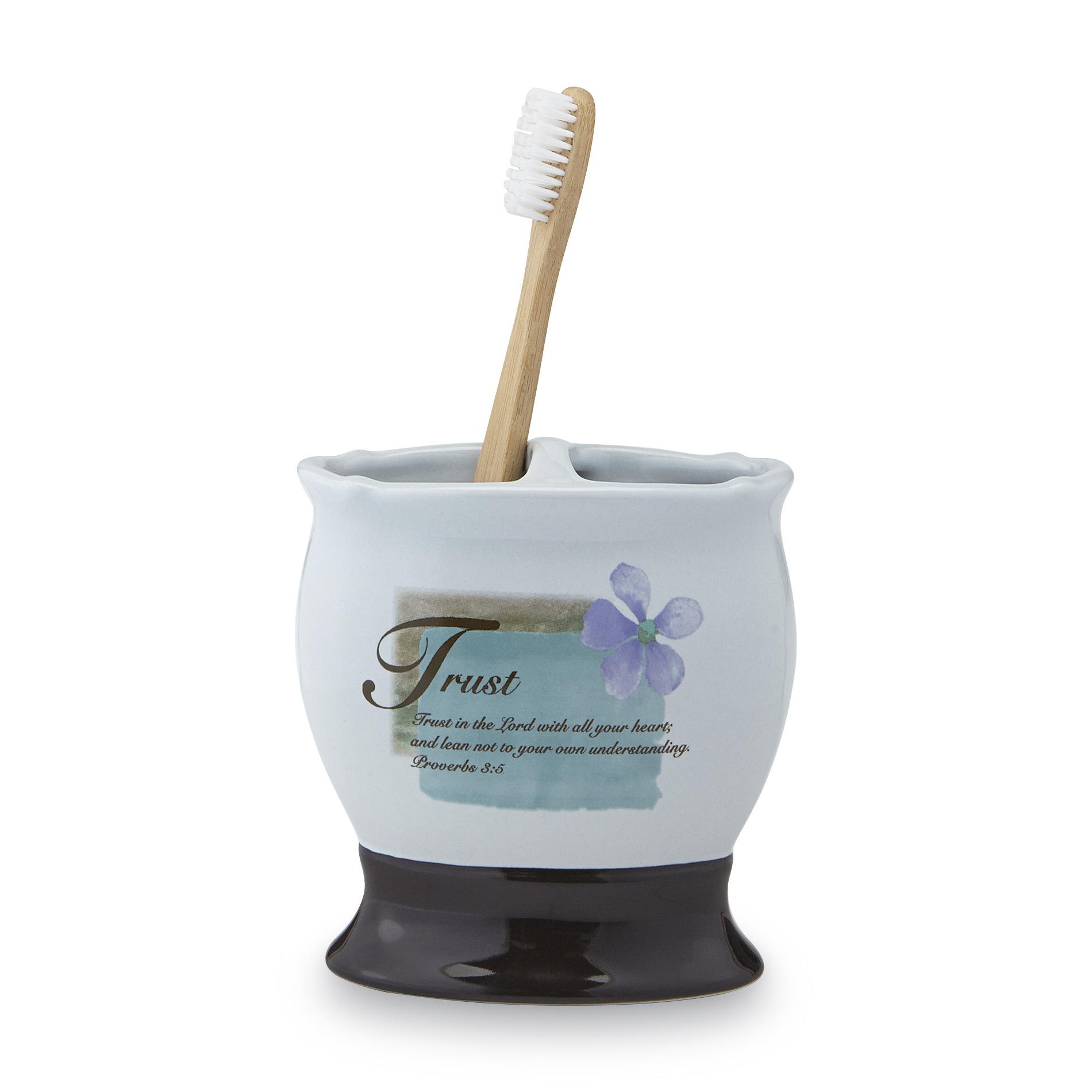 Essential Home Religious Toothbrush Holder