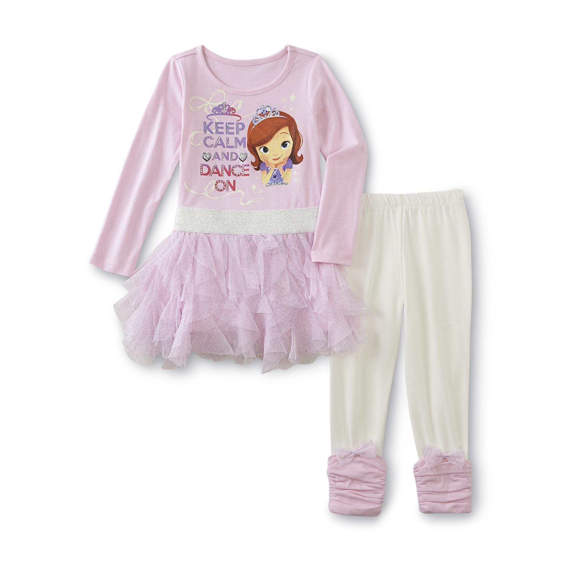 Disney Baby Sofia the First Toddler Girl's Dress & Leggings