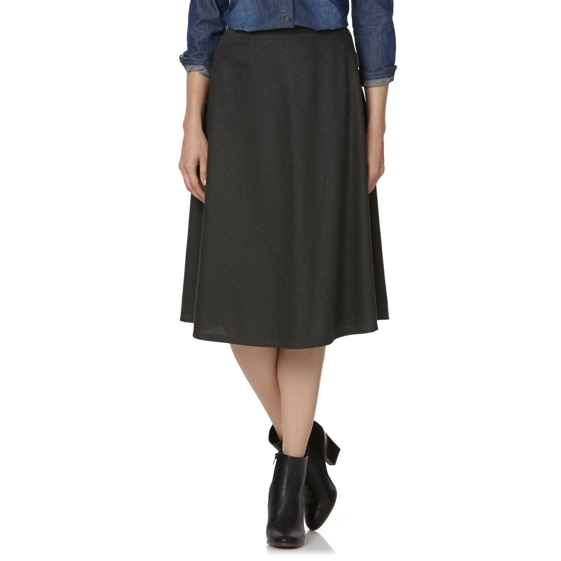 Laura Scott Women's Knit Skirt - Herringbone PartNumber: 007VA98336012P MfgPartNumber: MUDS6310H