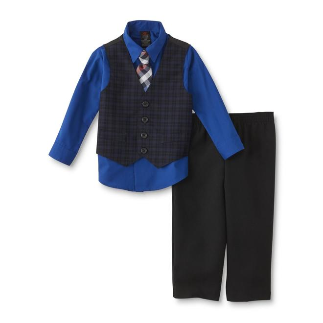 Dockers Infant Toddler Boys 39 Dress Shirt Vest Pants