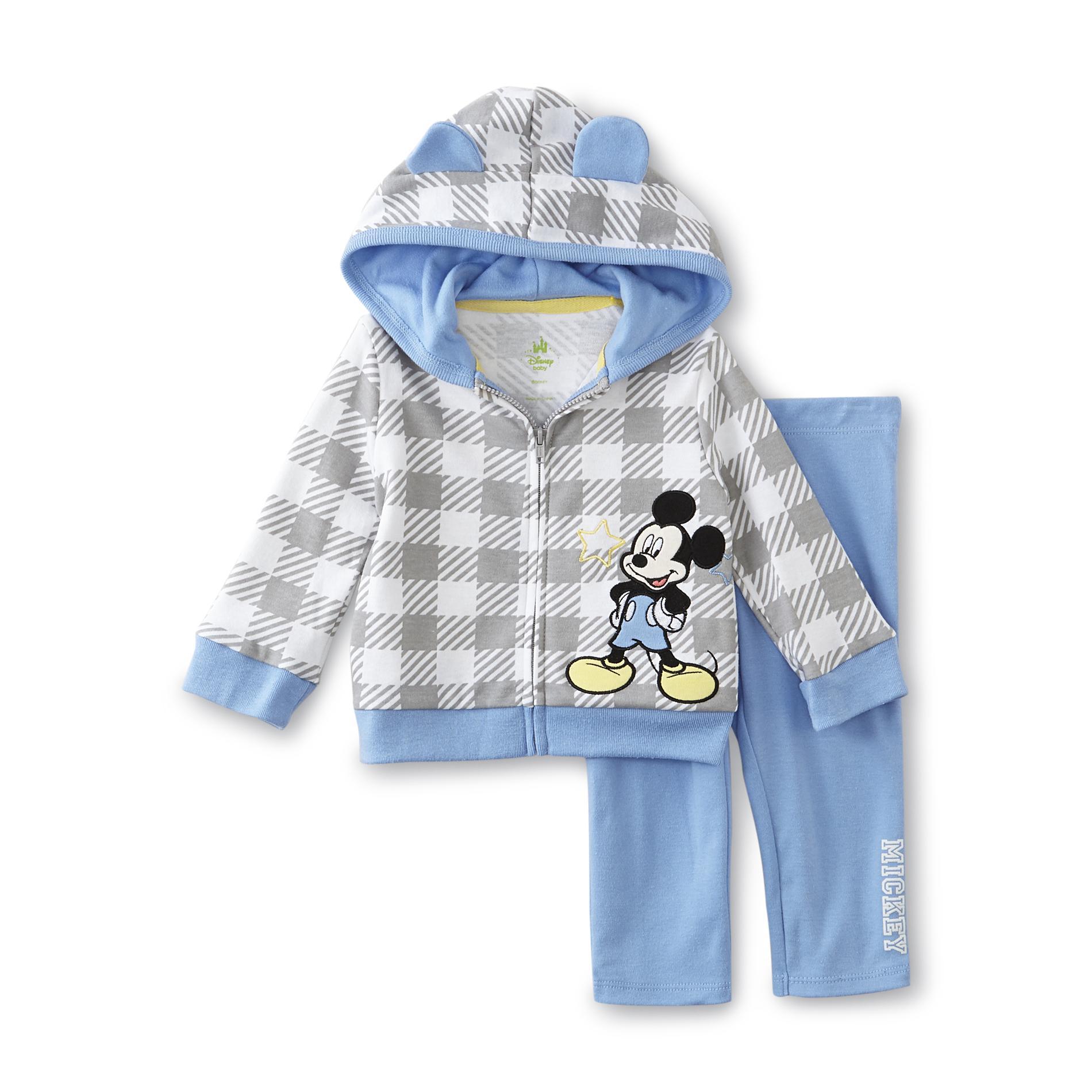 Disney Baby Mickey Mouse Newborn Boy's Hoodie Jacket & Sweatpants