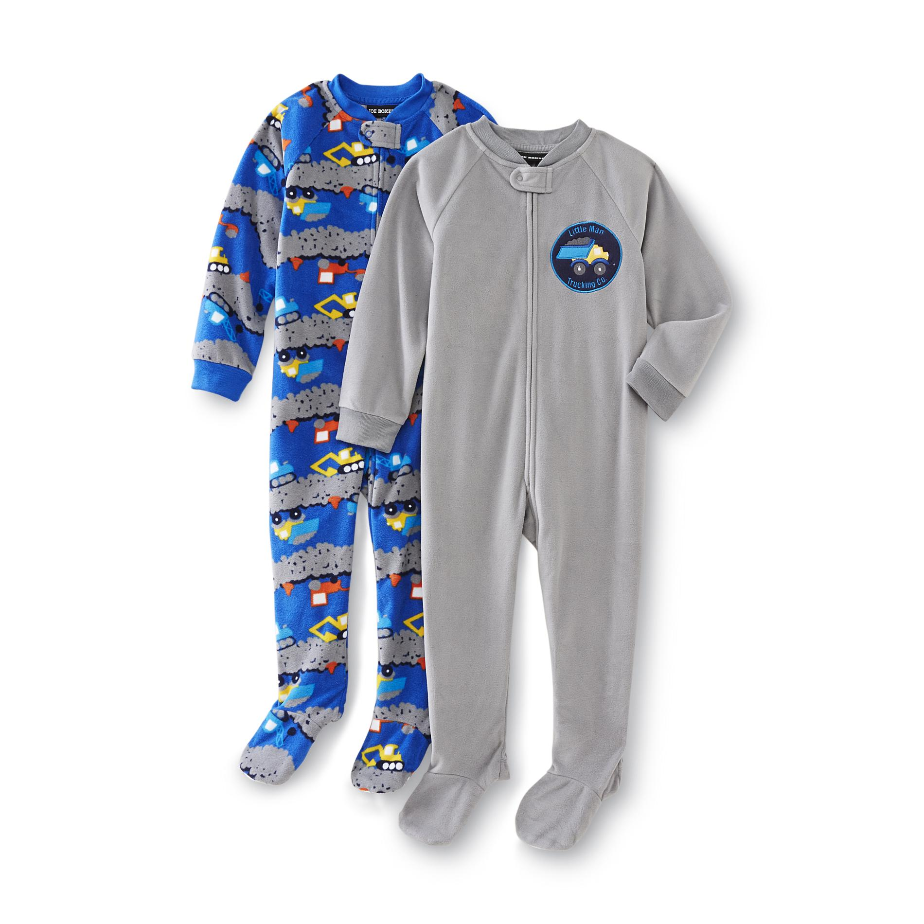 Joe Boxer Infant & Toddler Boy's 2-Pack Sleeper Pajamas - Truck Print