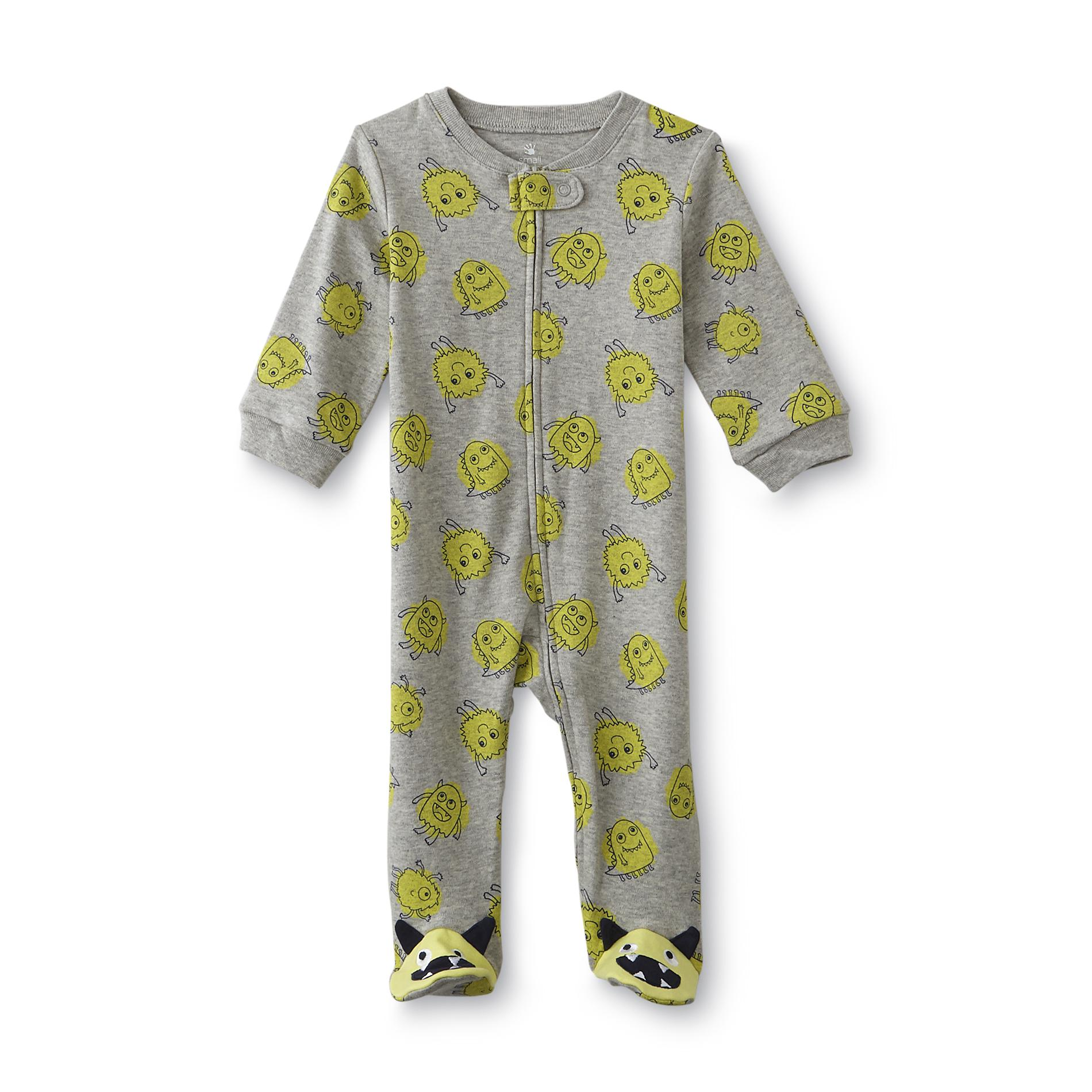Small Wonders Newborn Boy's Sleeper Pajamas - Monsters
