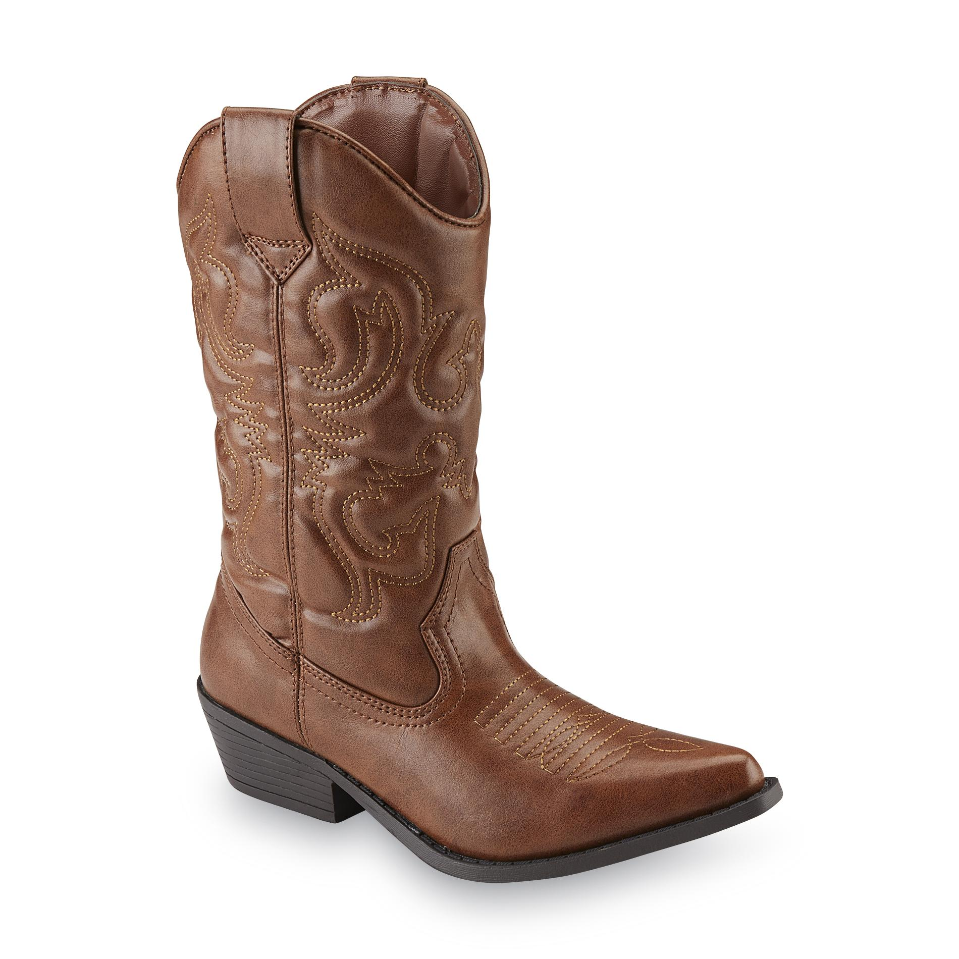 sm new york s lasso brown cowboy boot