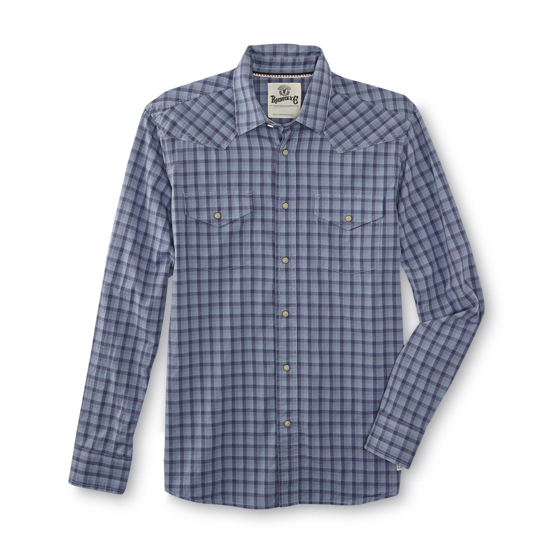 Roebuck & Co. Young Men's Western Shirt - Plaid