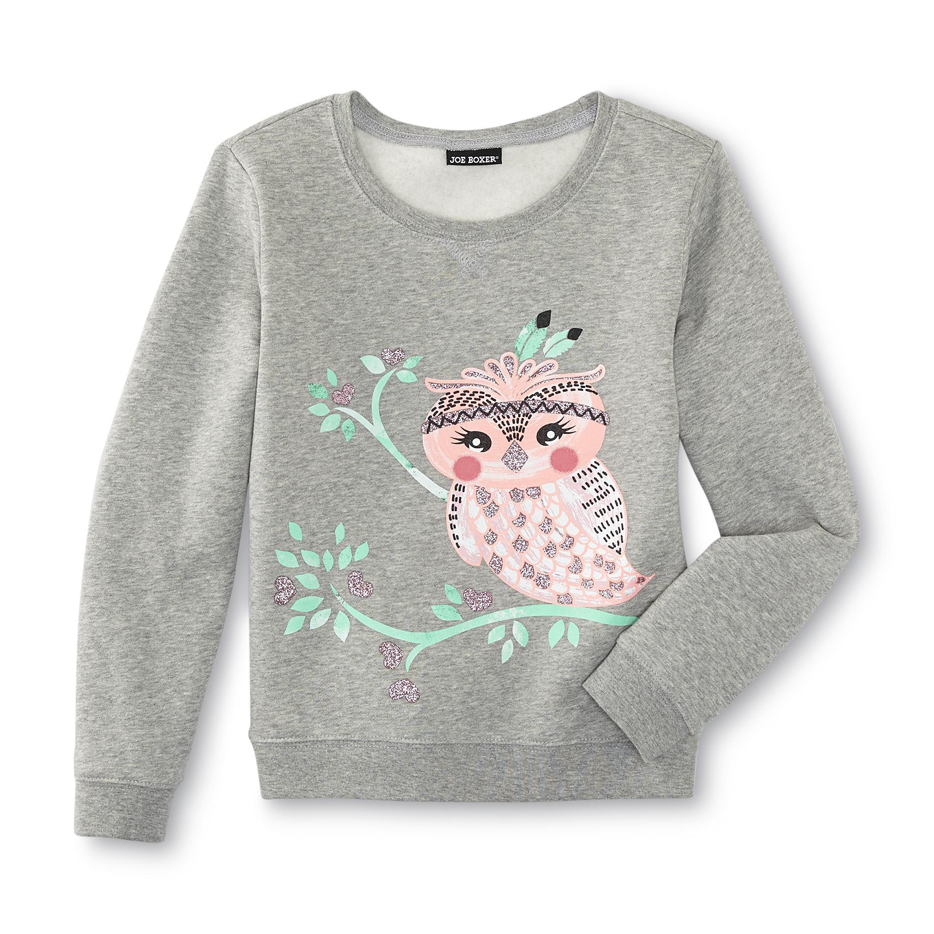 Joe Boxer Girl's Graphic Sweatshirt - Owl