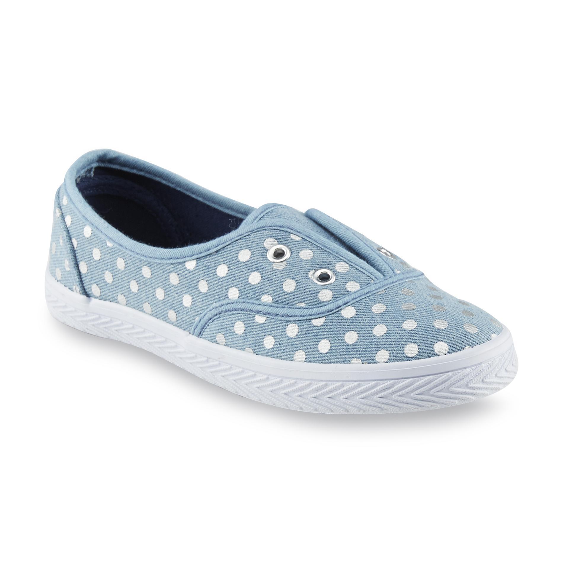 Canyon River Blues Girl's Avery Blue/Polka Dot Slip-On Shoe