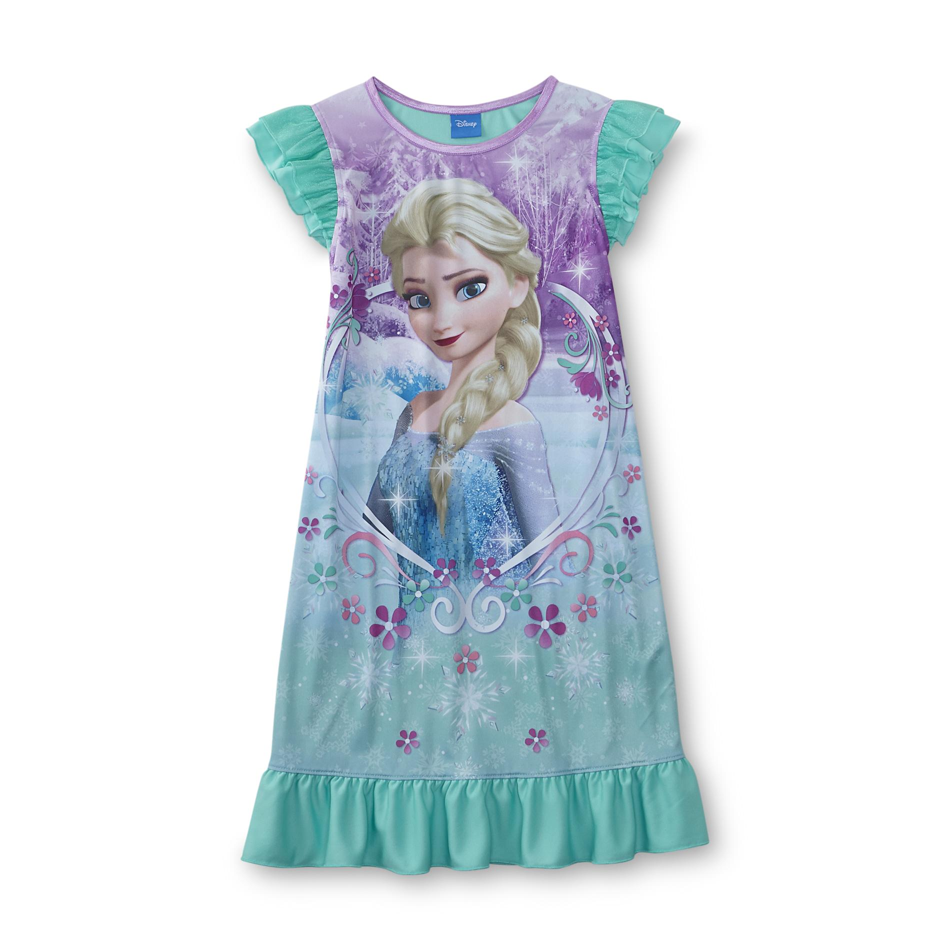 Disney Frozen Girl's Nightgown - Elsa