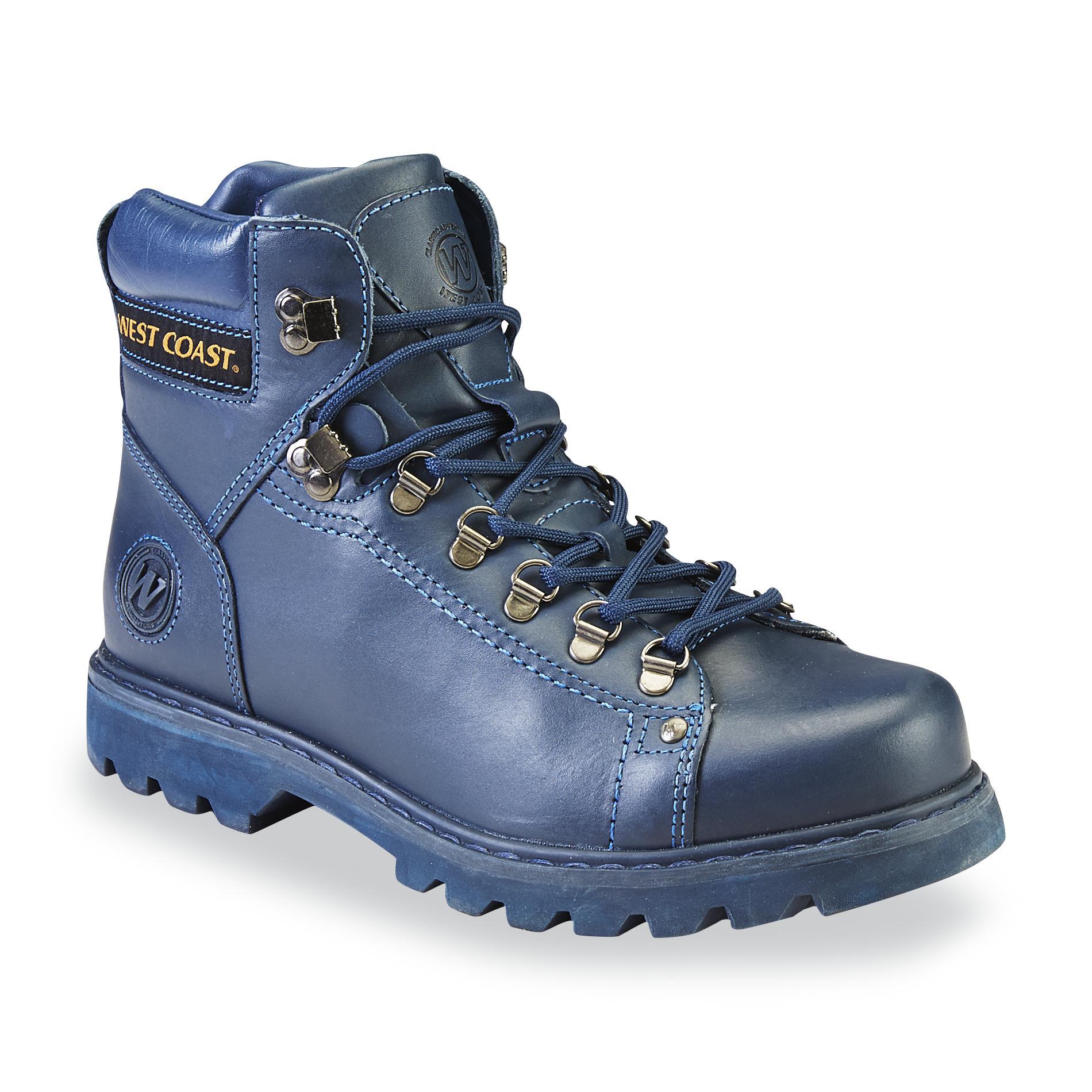 West Coast Men's Igor Leather Hiking Boot - Blue
