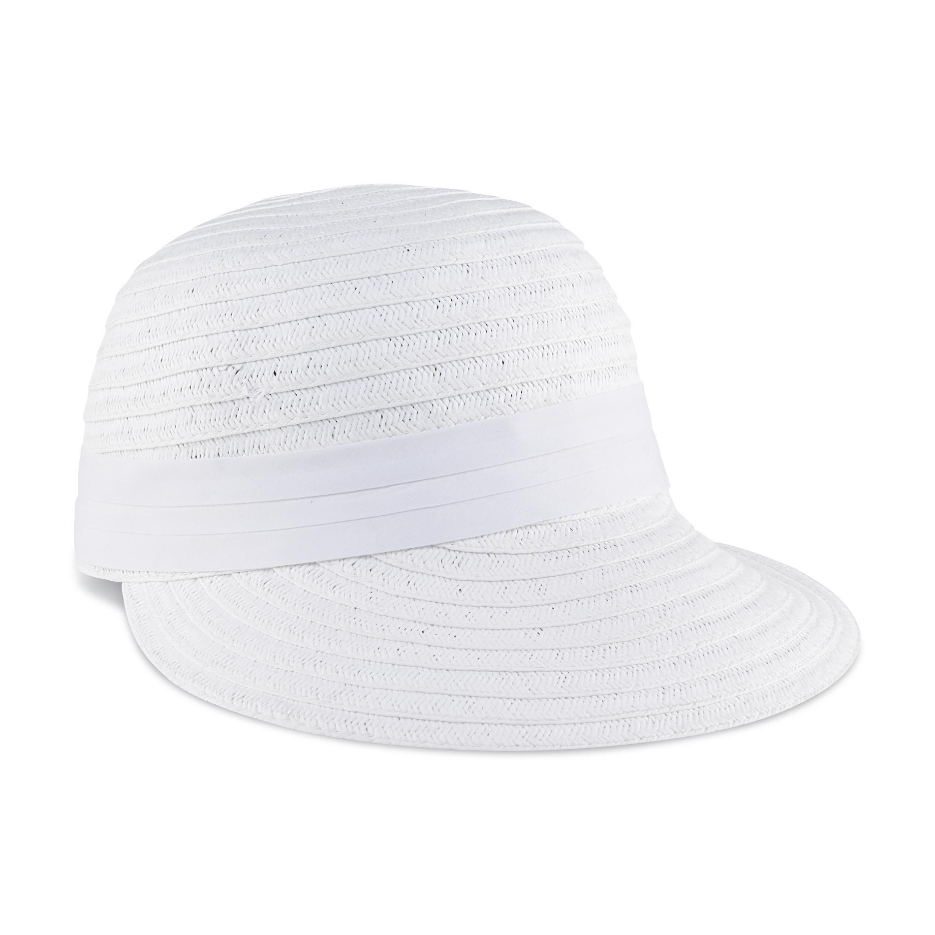 Basic Editions Women's Straw Face Framer Hat