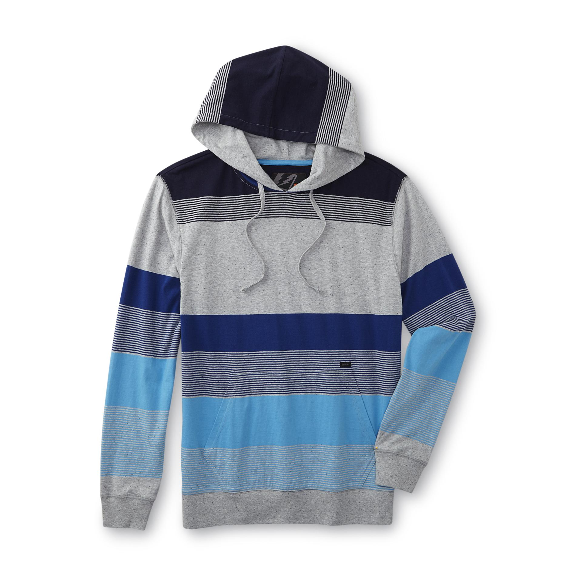 Amplify Young Men's Hooded Shirt - Striped