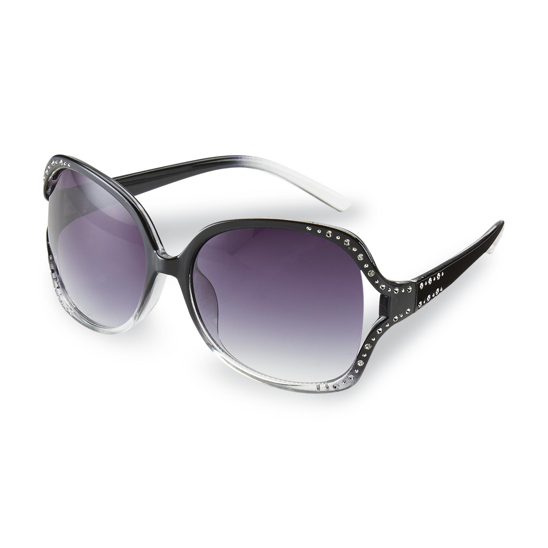 Attention Women's Oversized Round Sunglasses