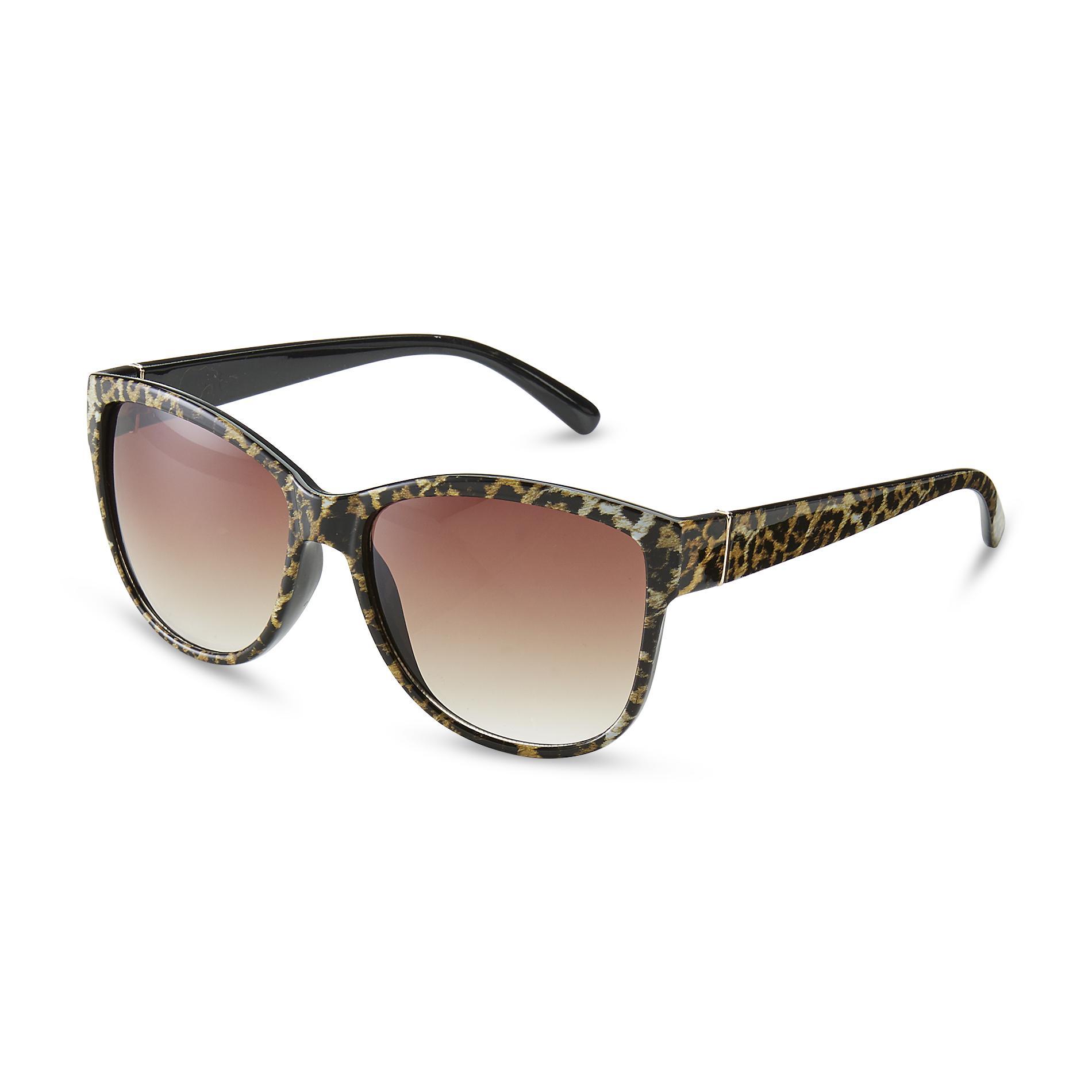 Stella Mccartney Cat Eye Leopard Print Acetate Sungles Brown Women Accessories