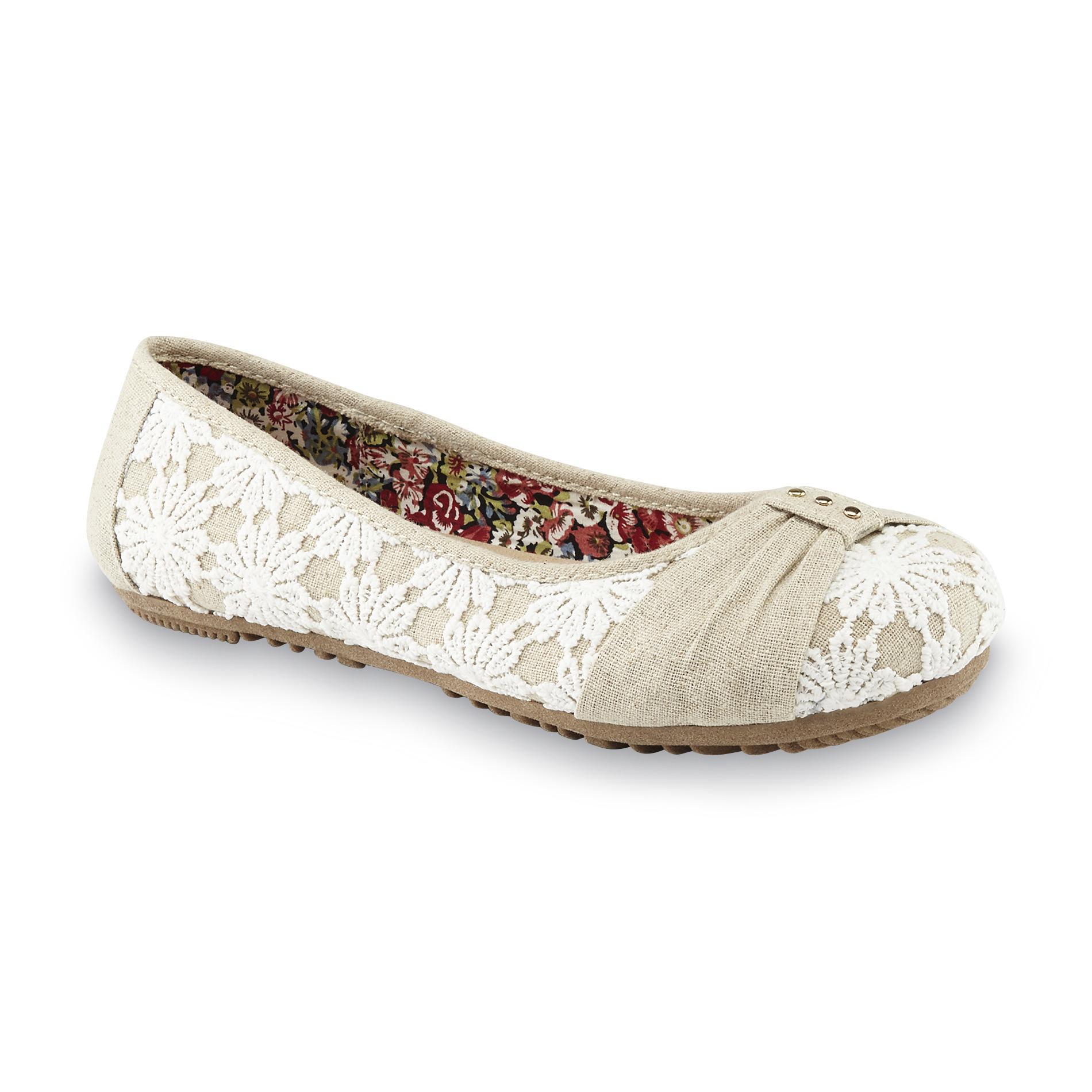 Women's Haido Ivory/White Ballet Flat