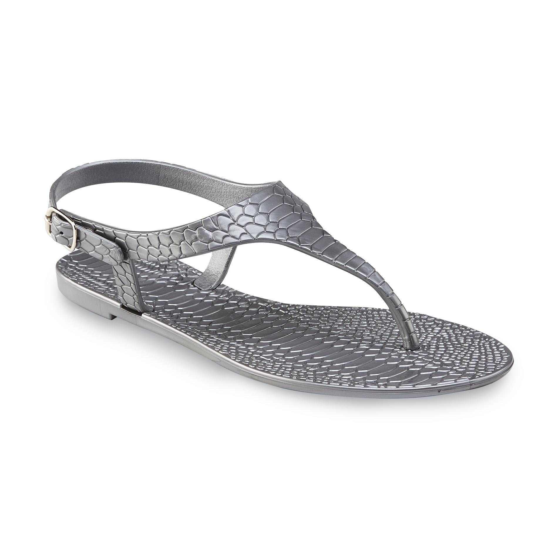 Bongo Women's Hanalei Silver Slingback Sandal