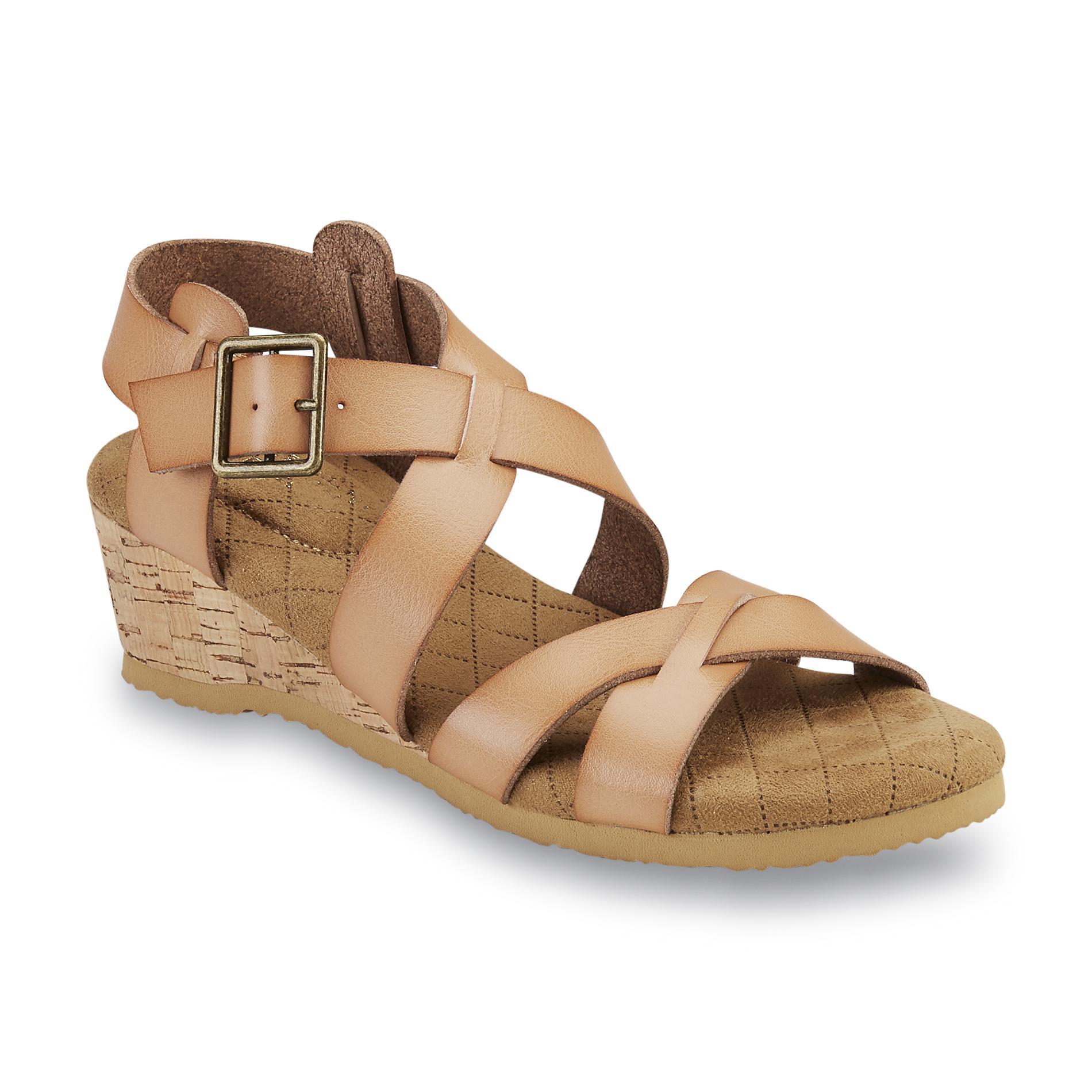 Women's Electra Tan Strappy Wedge Sandal