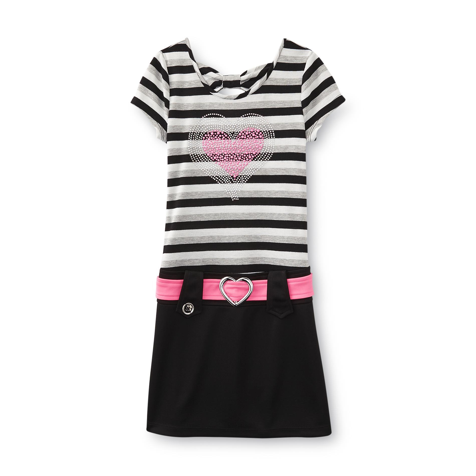 Piper Girl's Marsha Dress - Striped