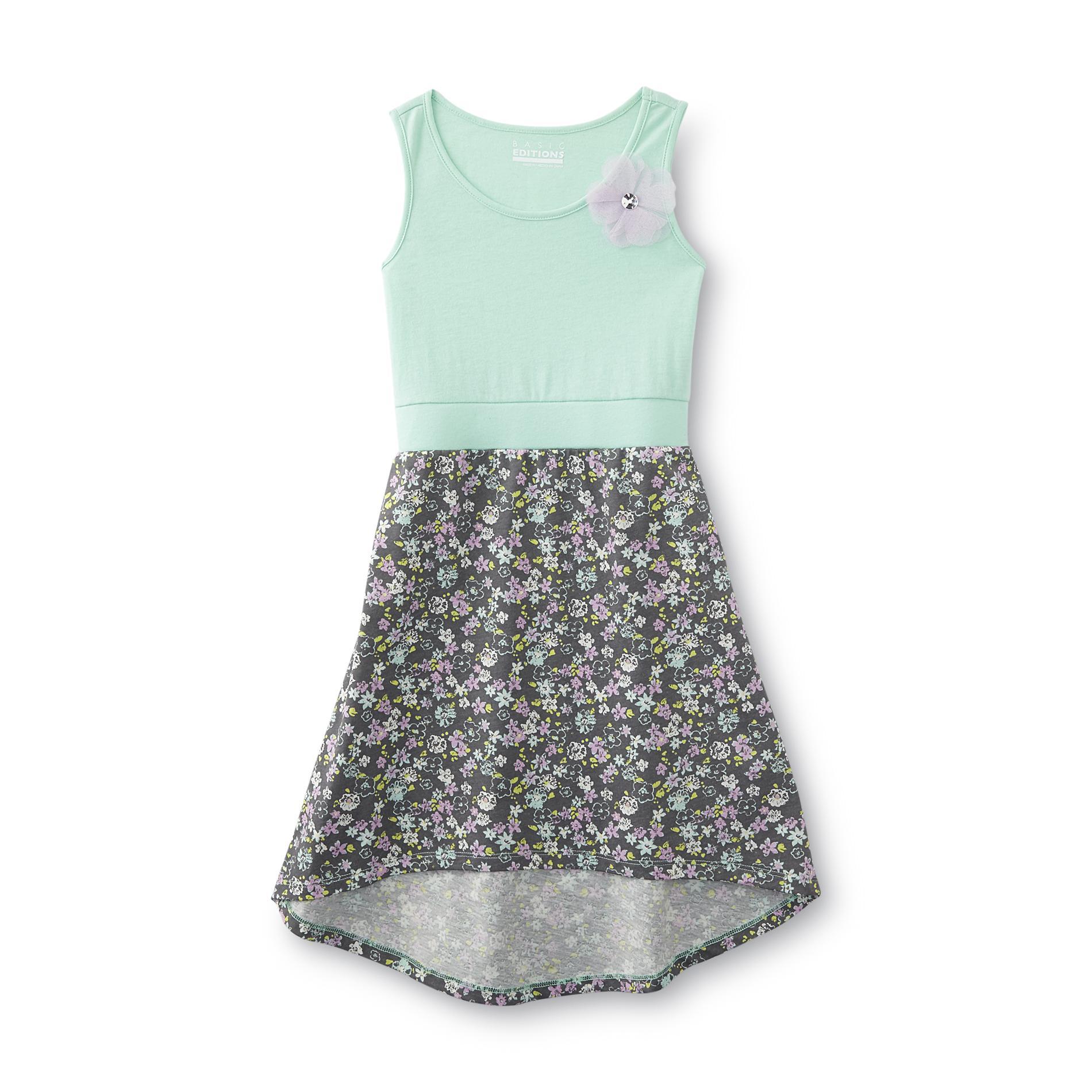 Basic Editions Girl's Sleeveless Dress - Floral