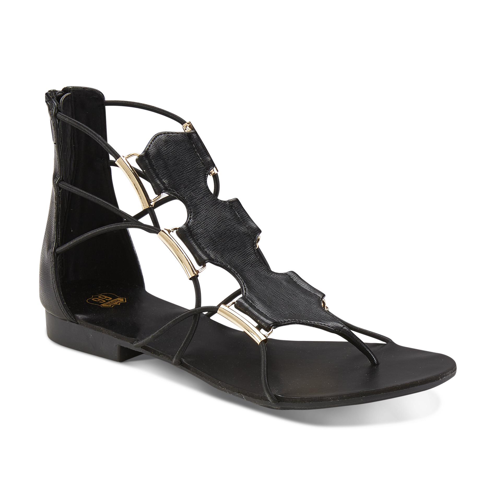 Route 66 Women's Zanya Black Gladiator Sandal