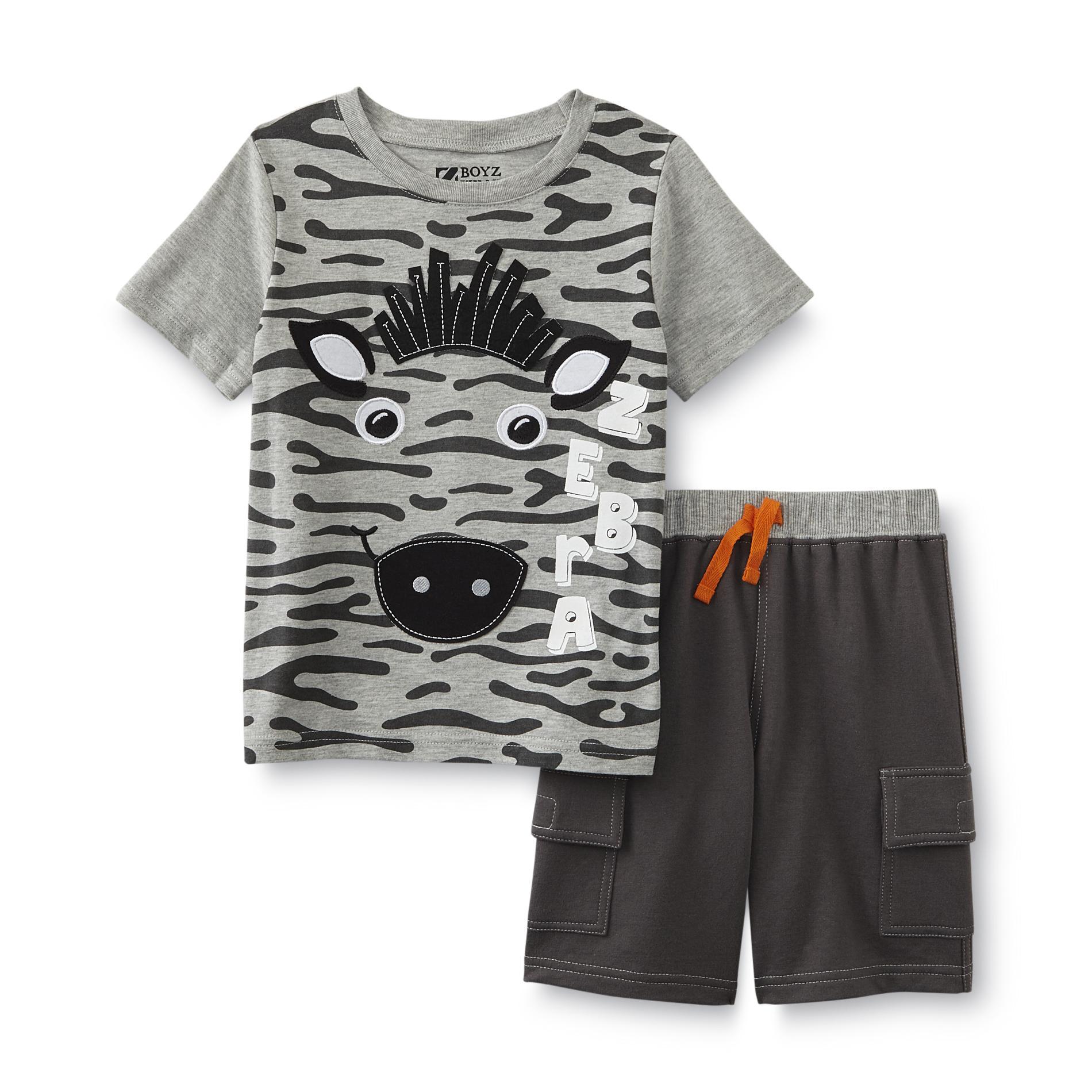 Infant & Toddler Boy's Graphic T-Shirt & Shorts - Zebra