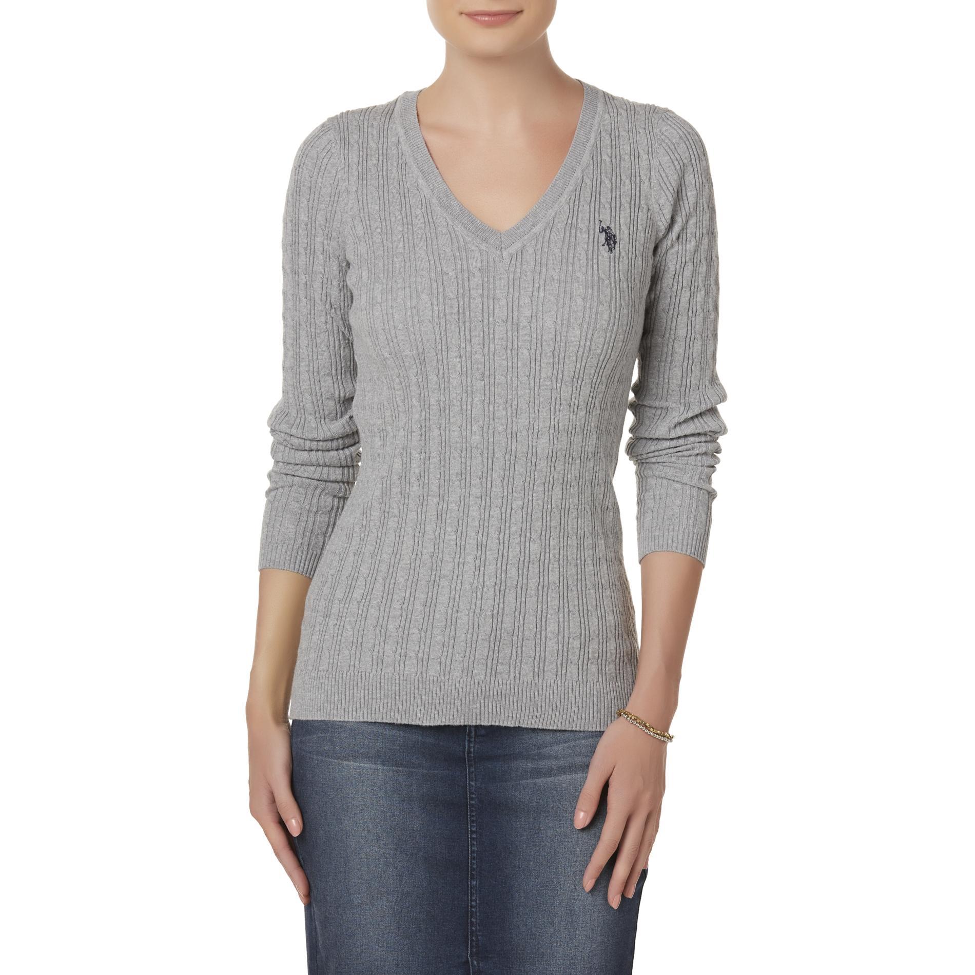 U.S. Polo Assn. Juniors' V-Neck Cable Knit Sweater PartNumber: 002VA99285312P MfgPartNumber: US346SE
