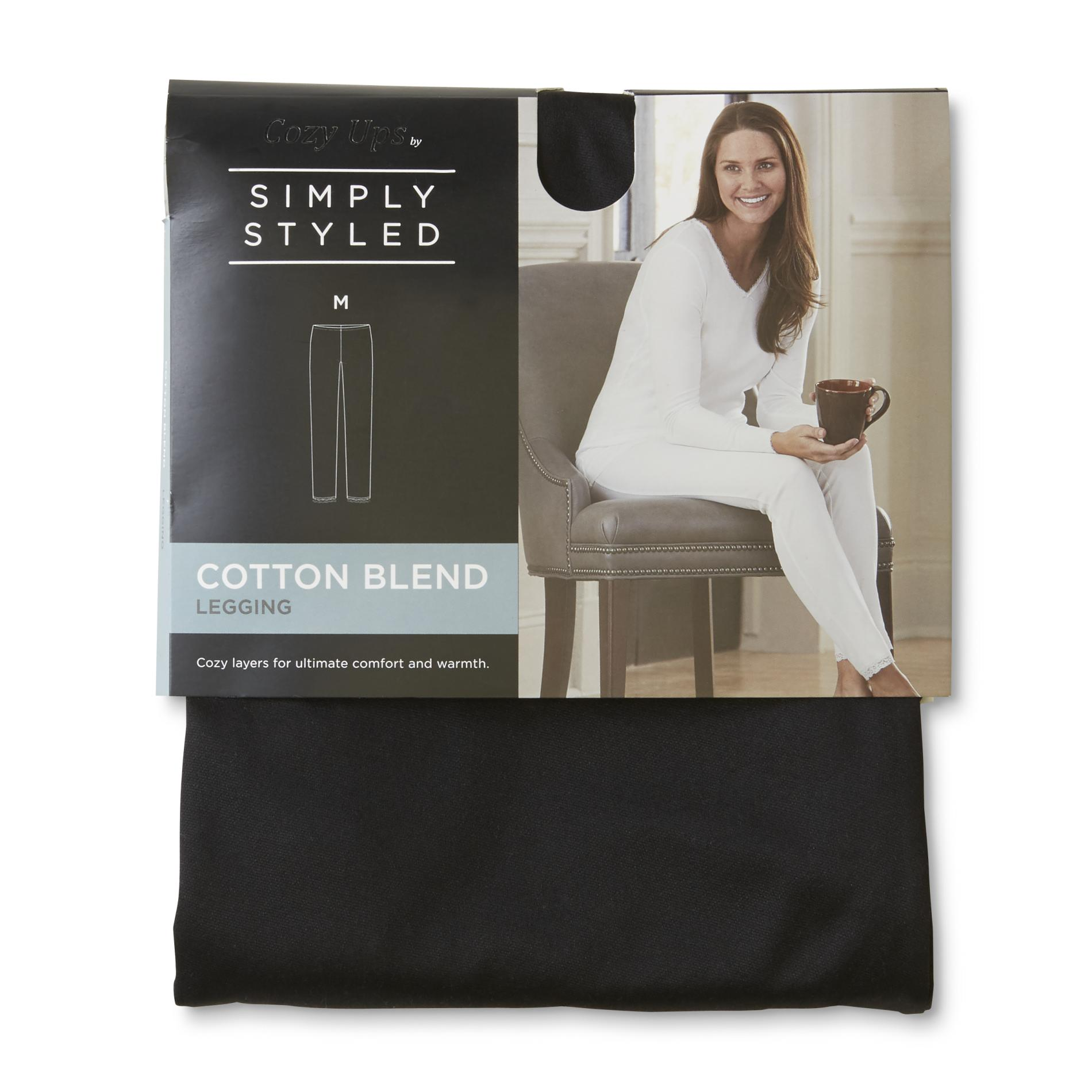 Simply Styled Women's Cotton-Blend Leggings PartNumber: 018VA99008312P MfgPartNumber: LF7SS39004MI