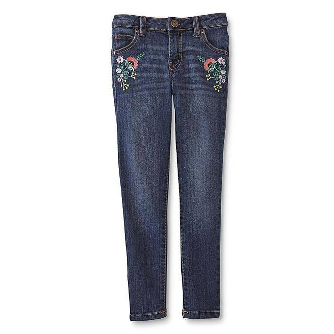Toughskins girls embroidered jeans