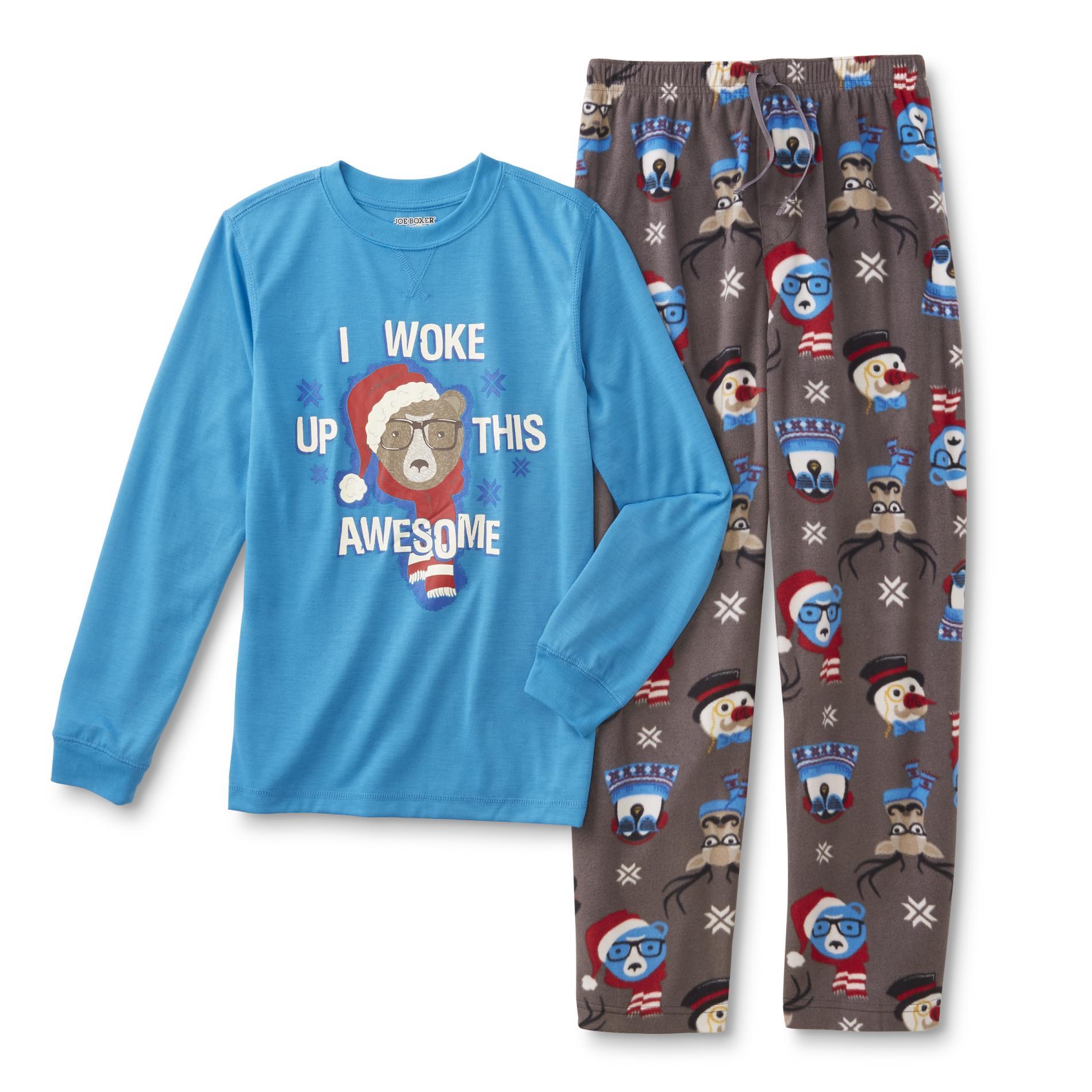 Joe Boxer Boys\' Christmas Pajama Shirt & Pants - Awesome