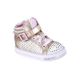 7ffcb08e263a Skechers Toddler Girls  Twinkle Toes Shuffles Twinkle Charm Gold Sneaker
