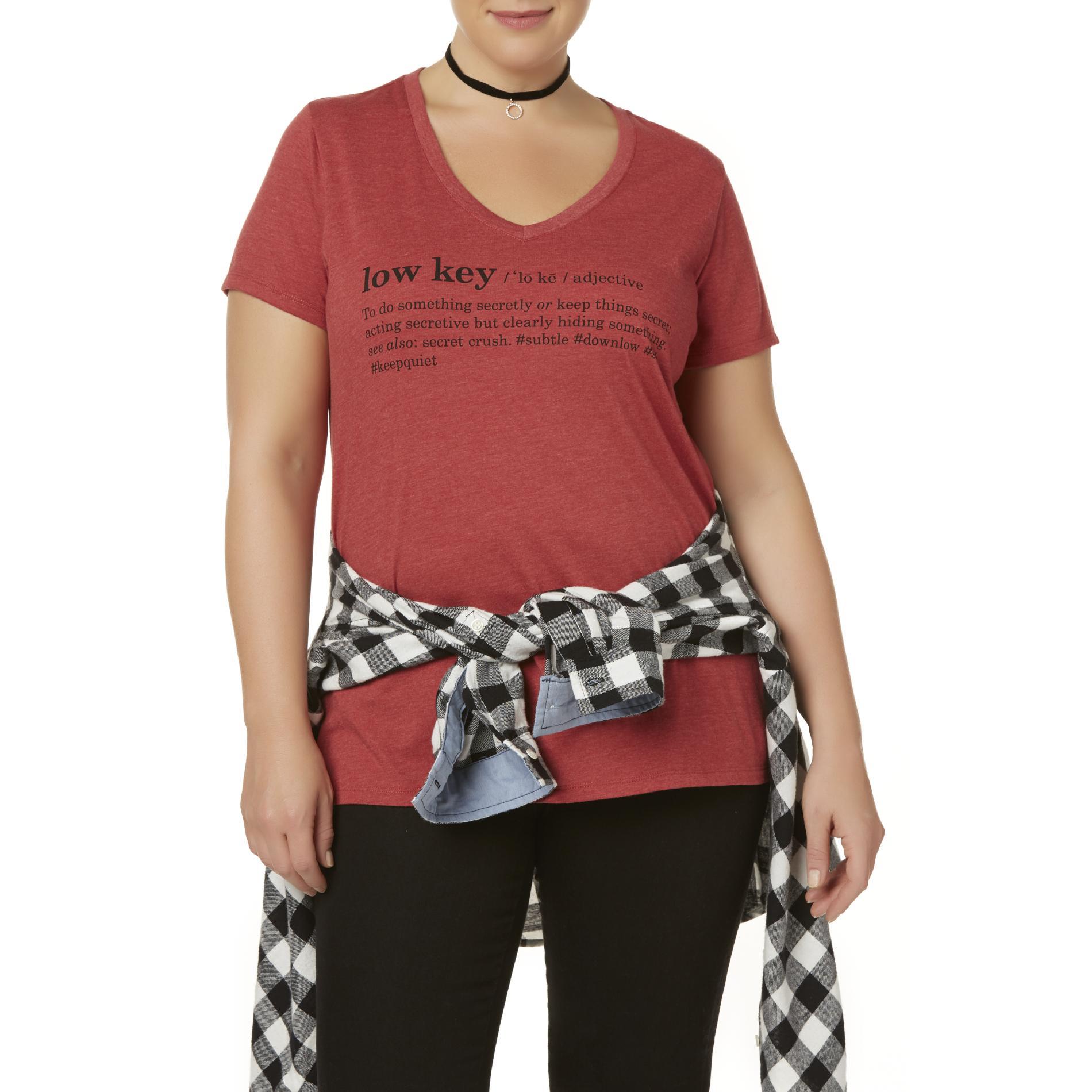 Joe Boxer Juniors' Plus V-Neck Graphic T-Shirt - Low Key PartNumber: 027VA100323412P MfgPartNumber: IHE2647