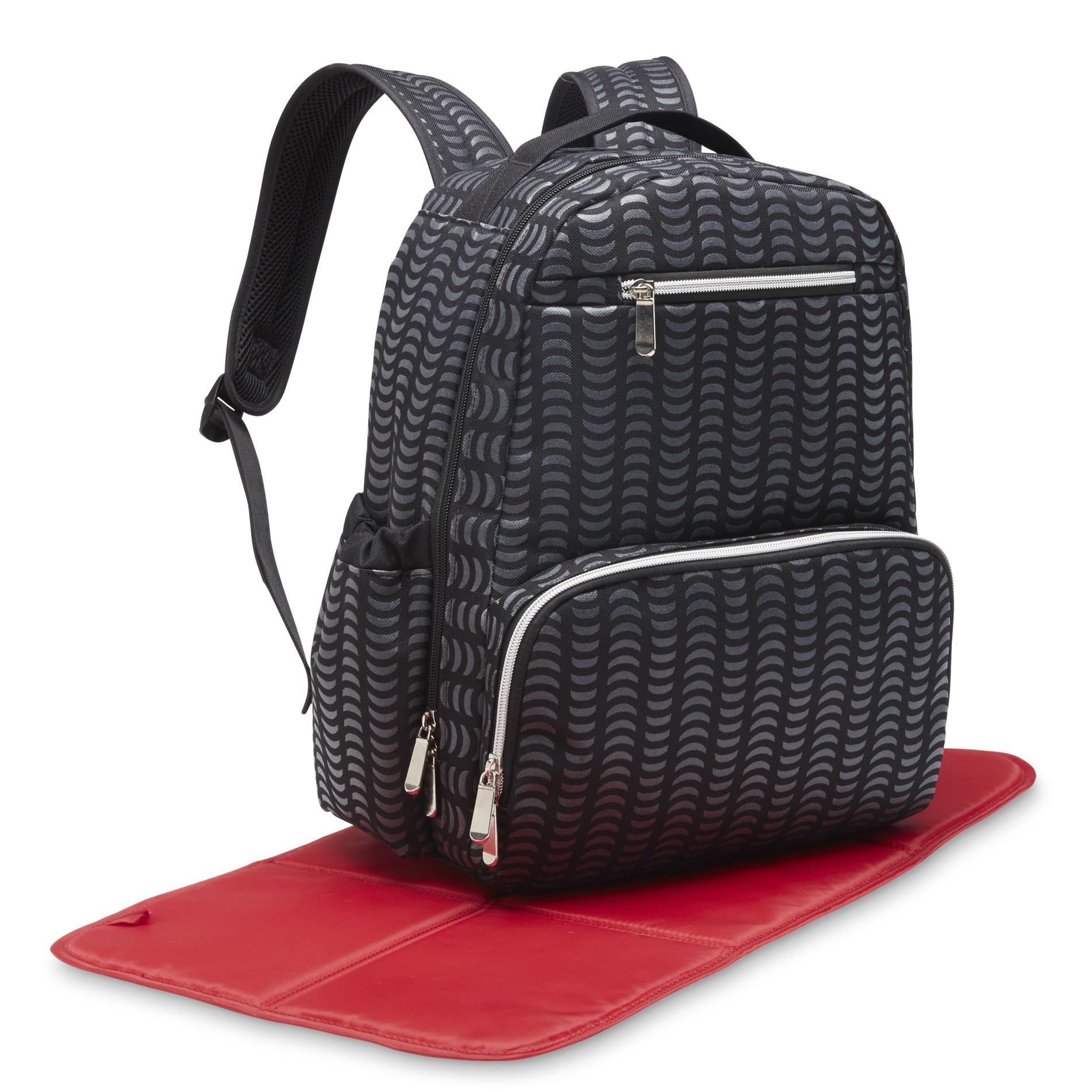 Tender Kisses Backpack Diaper Bag - Geometric, Gray im test