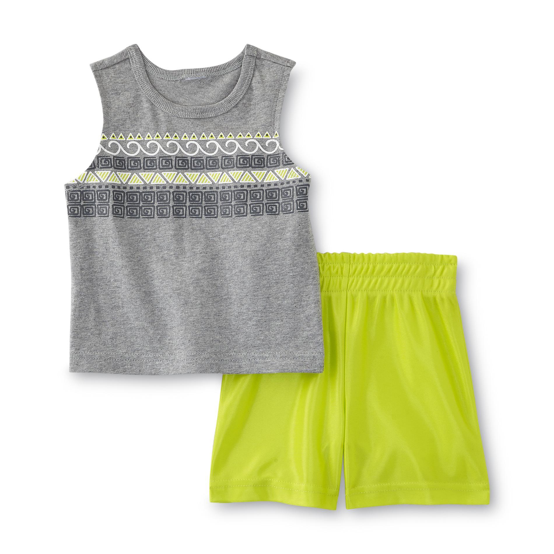 Small Wonders Newborn Boy's Tank Top & Shorts - Tribal