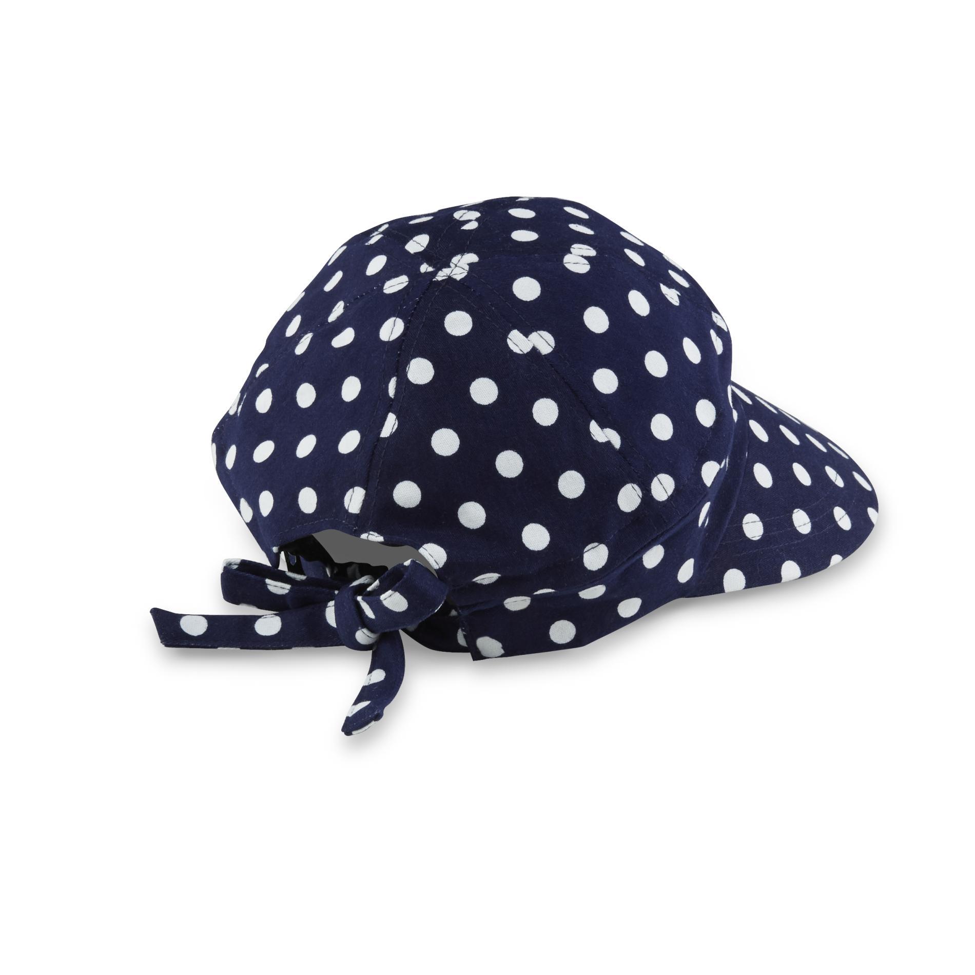 Basic Editions Women's Convertible Face Framer Hat - Polka Dot