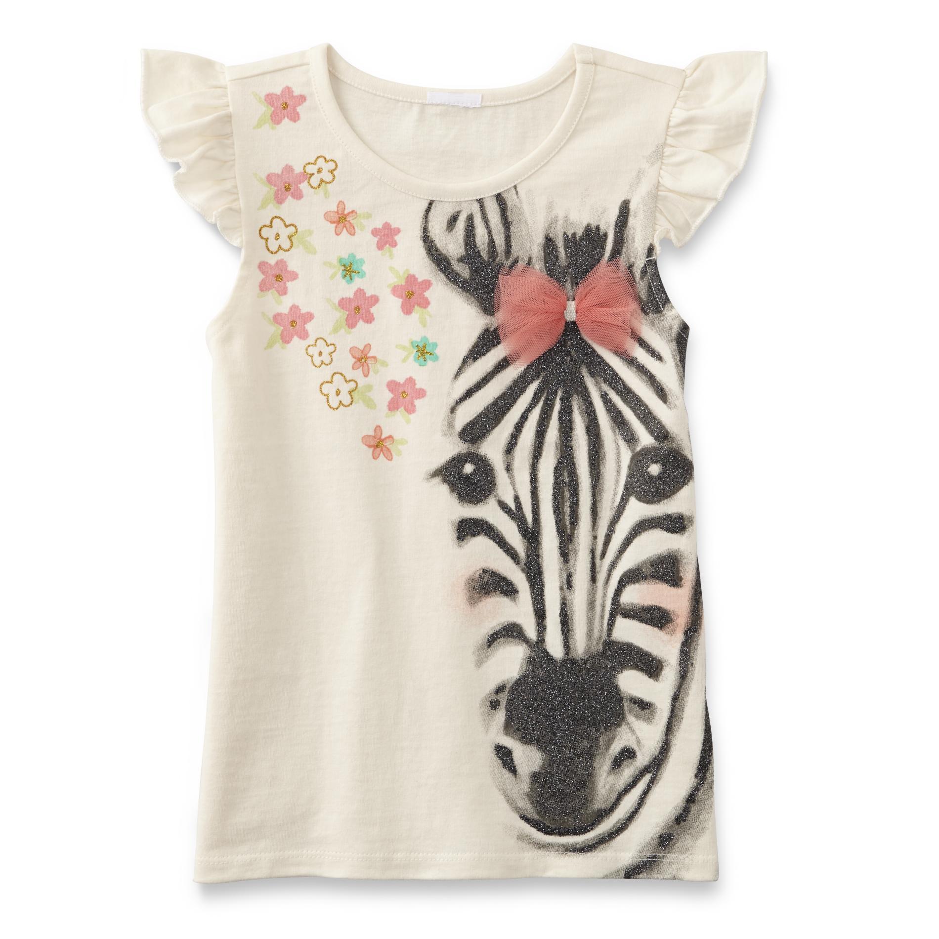 Toughskins Girl's Sleeveless Graphic Shirt - Zebra