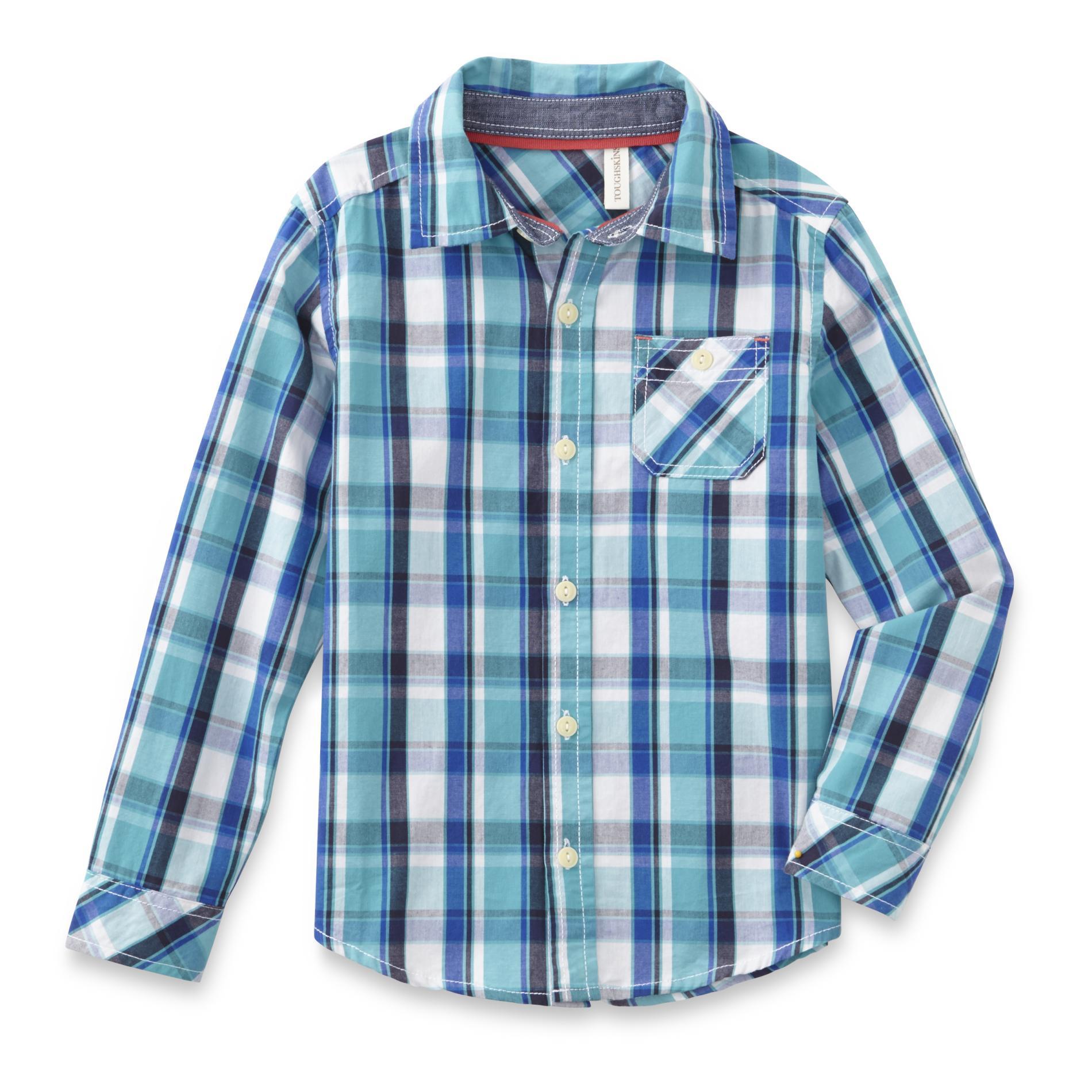 Boy's Button-Front Shirt - Plaid