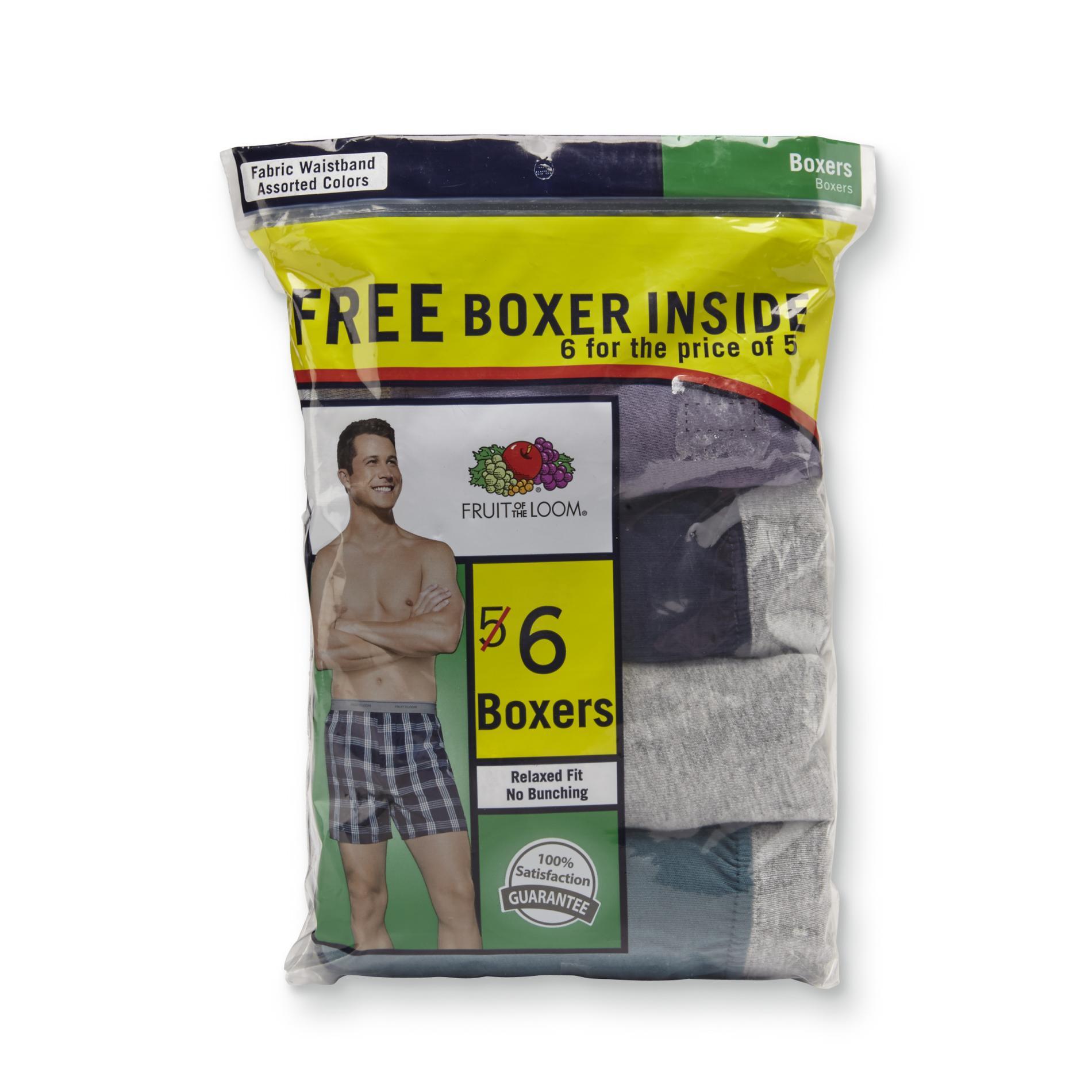 fruit of the loom men 39 s 6 pack boxers shop your way. Black Bedroom Furniture Sets. Home Design Ideas