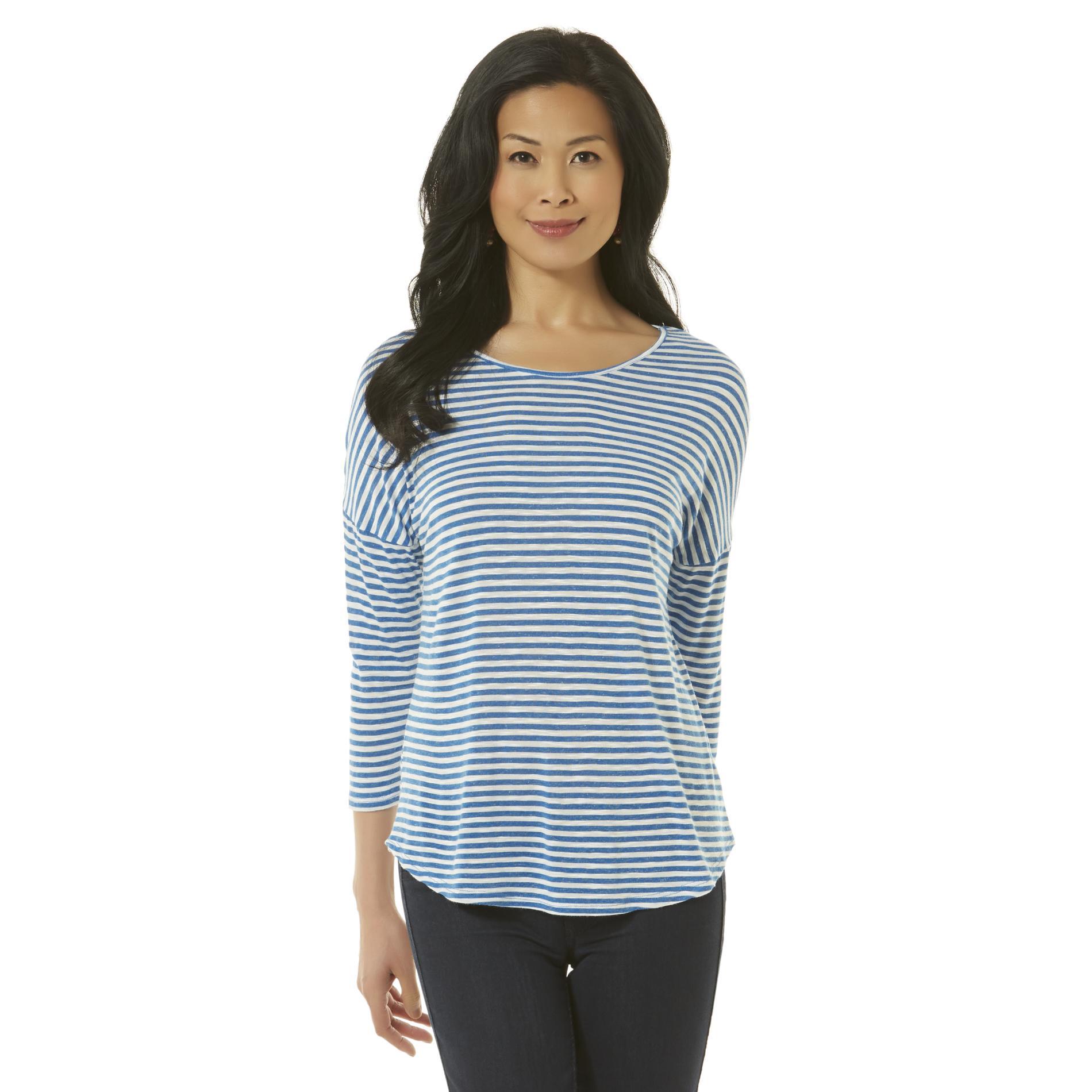 Women's Slub Knit Top - Striped