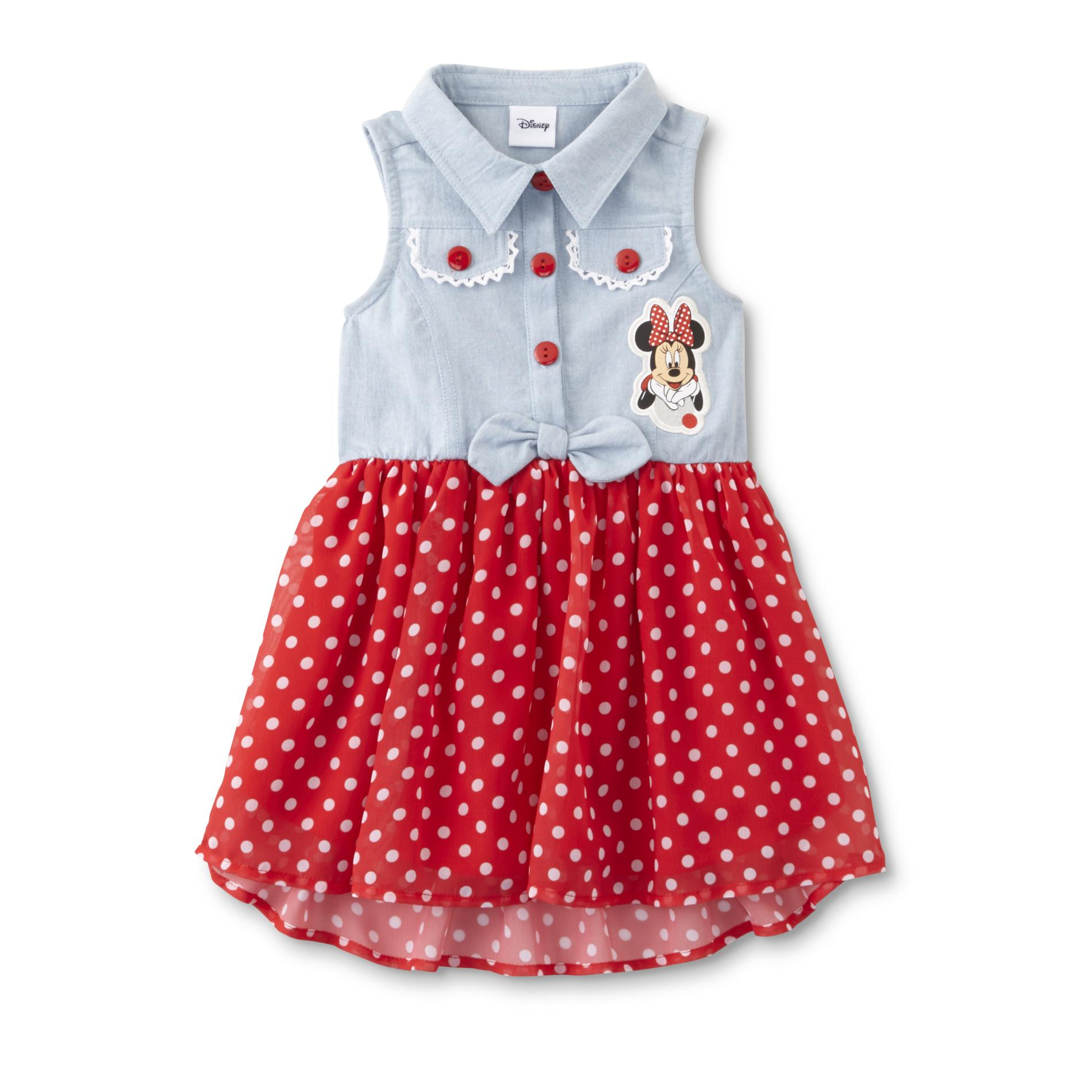 Disney Baby Minnie Mouse Toddler Girl s Sleeveless Dress