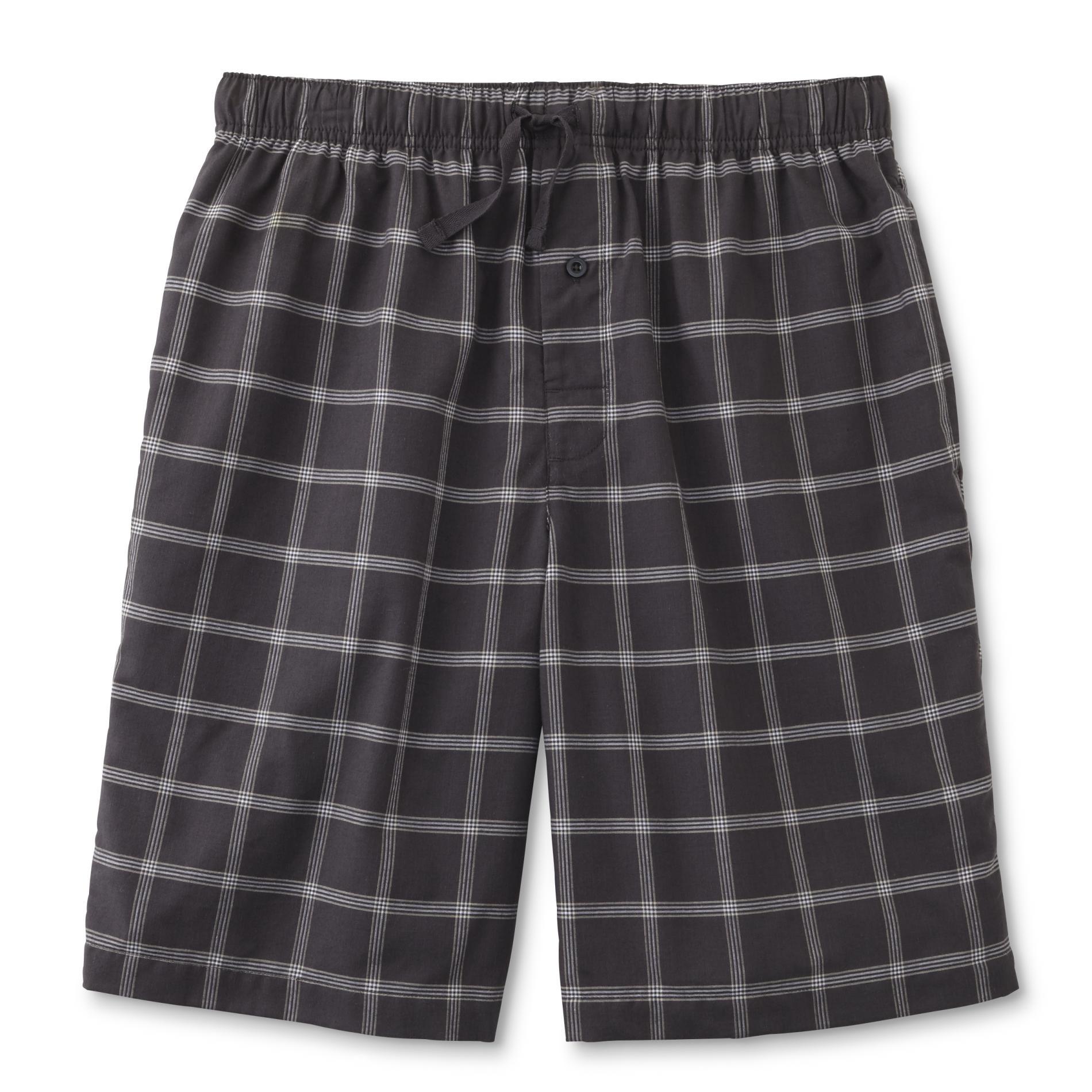 Basic Editions Men's Big & Tall Poplin Sleep Shorts - Plaid PartNumber: 046VA87874612P MfgPartNumber: MU6BE42902 - MAS