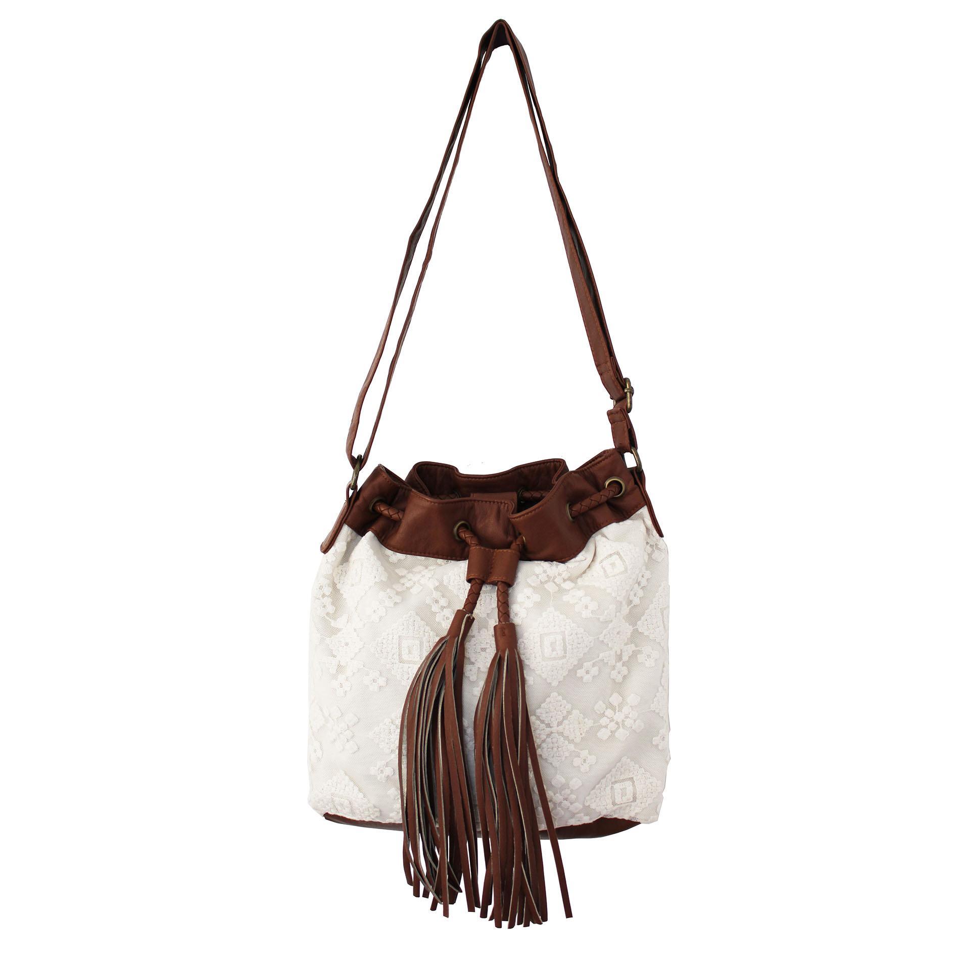 Women's Lace Bucket Bag