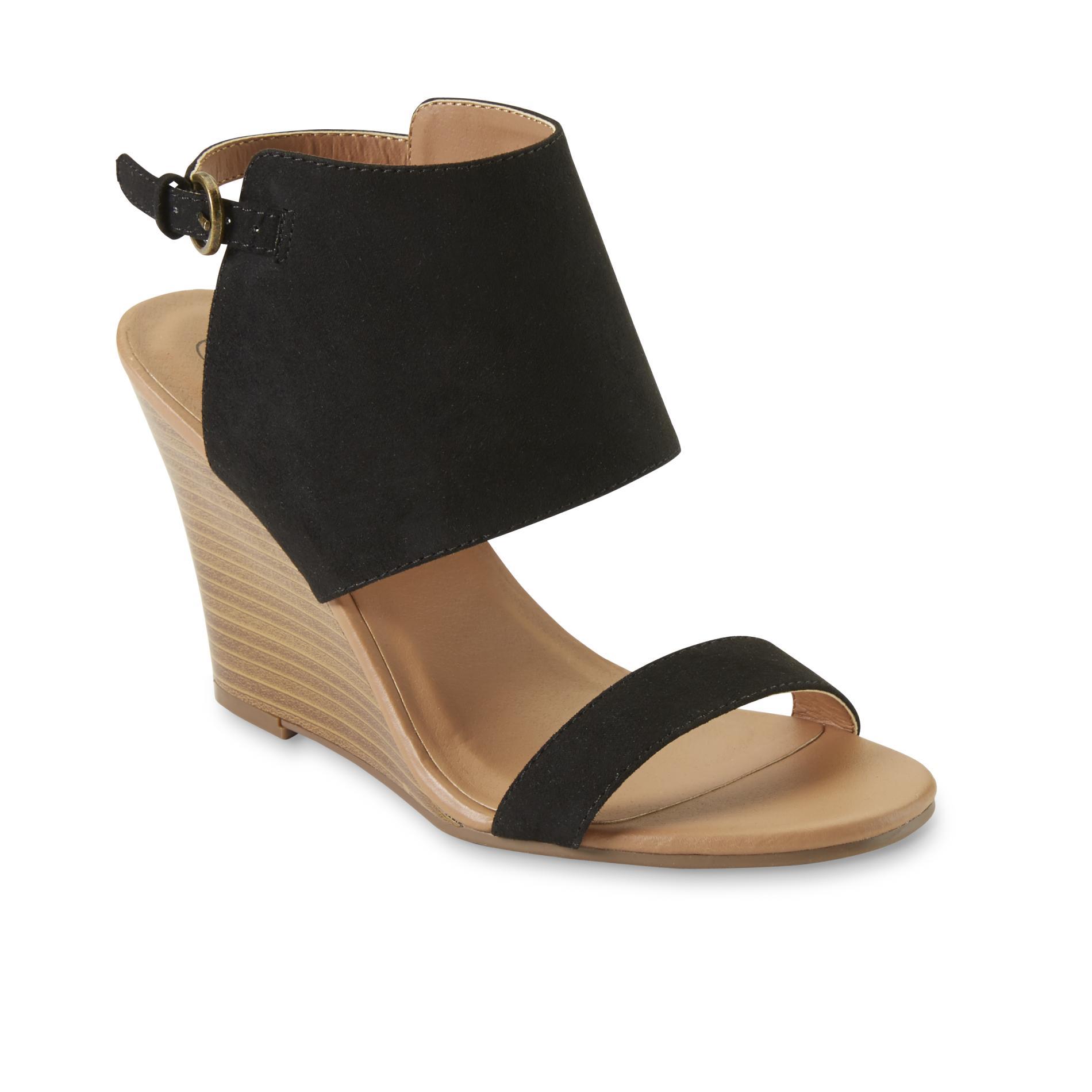 Women's Teegan Black Wedge Sandal