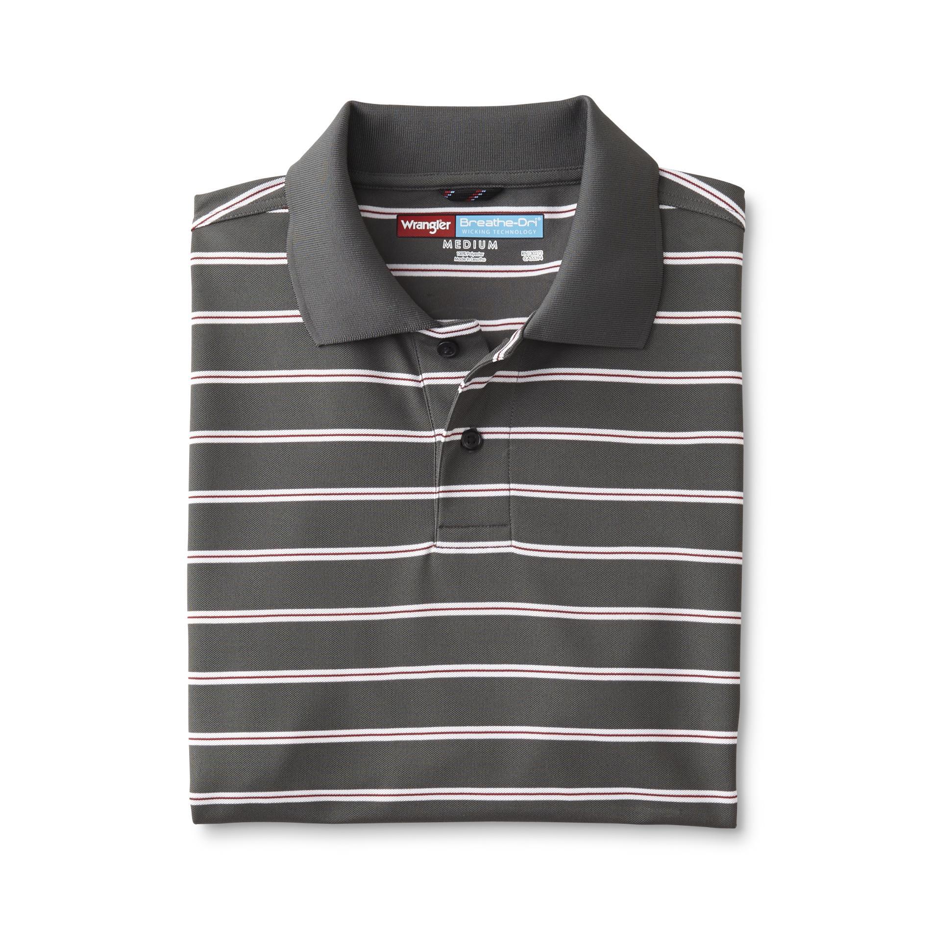 Wrangler Men's Big & Tall Tech Polo Shirt - Striped