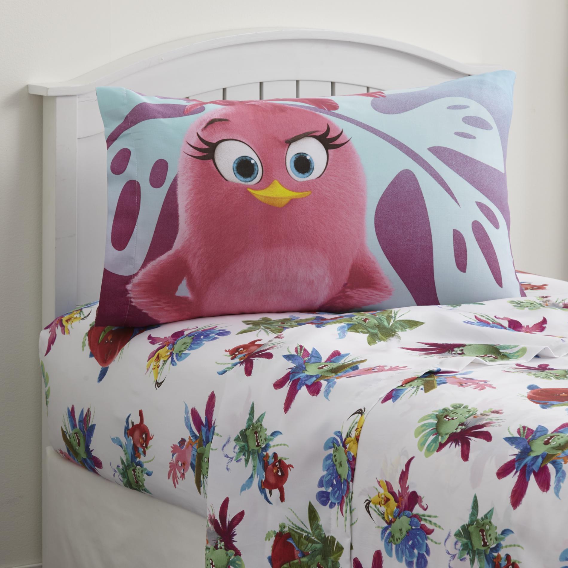 Disney Angry Birds Girl's Twin Sheet Set