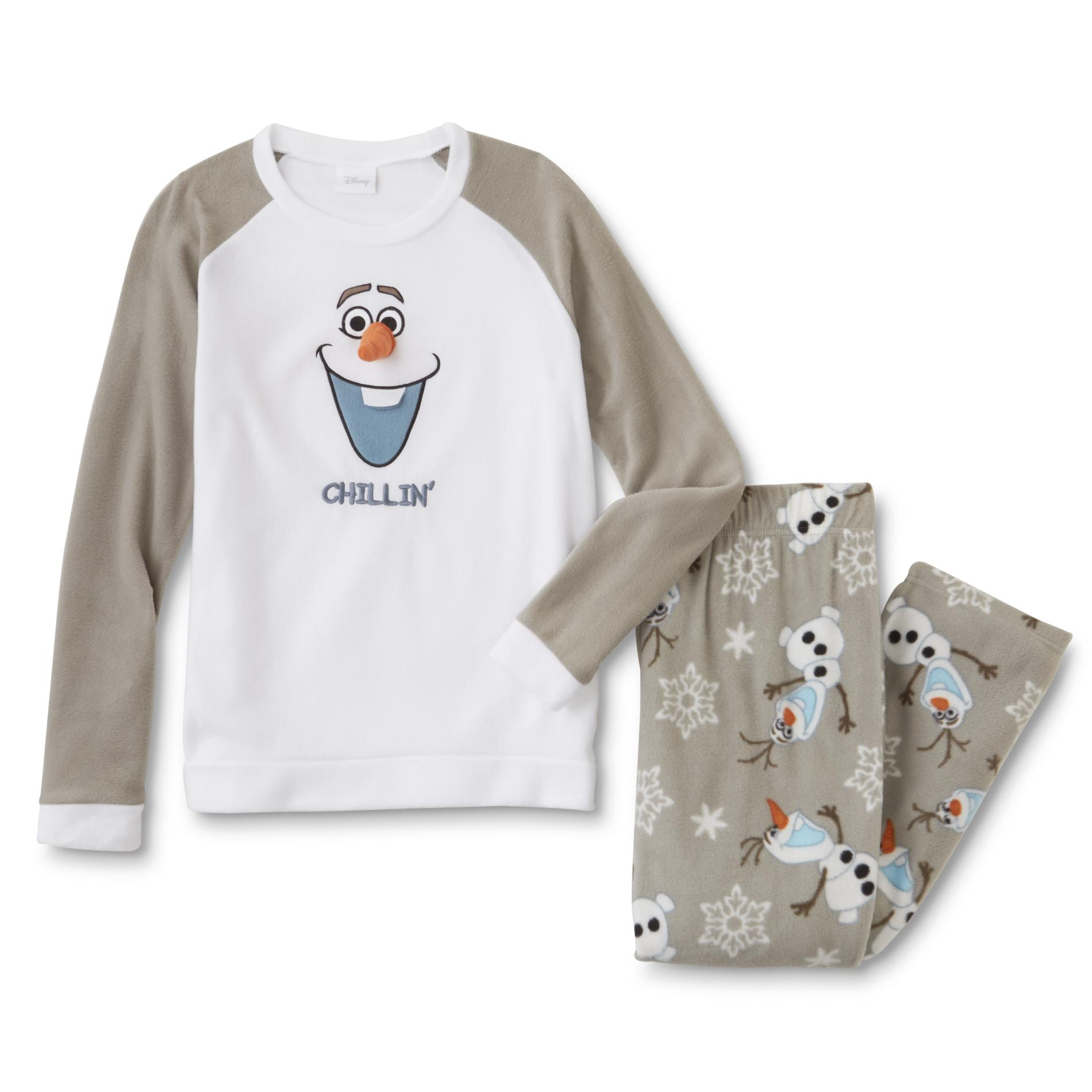 Disney Frozen Juniors' Fleece Pajama Top & Pants - Olaf PartNumber: A010487473 MfgPartNumber: WF17208SS