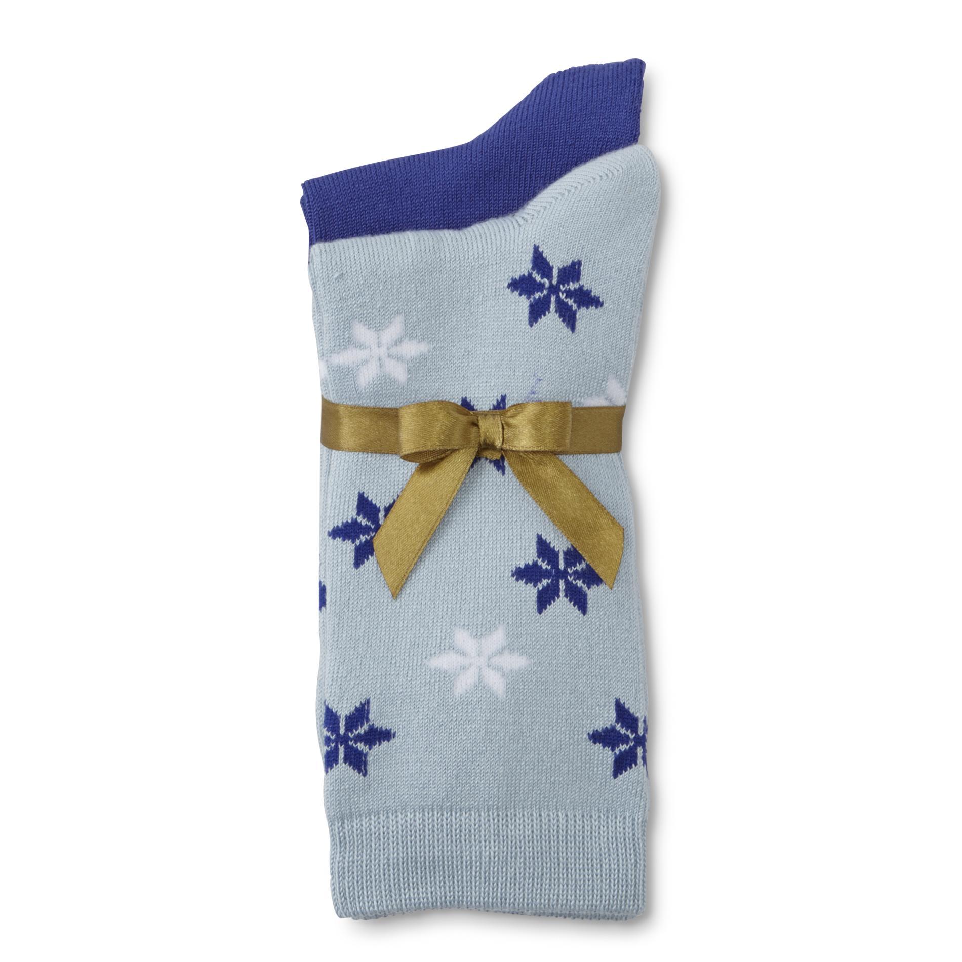 Kodiak Women's 2-Pairs Crew Socks - Snowflakes