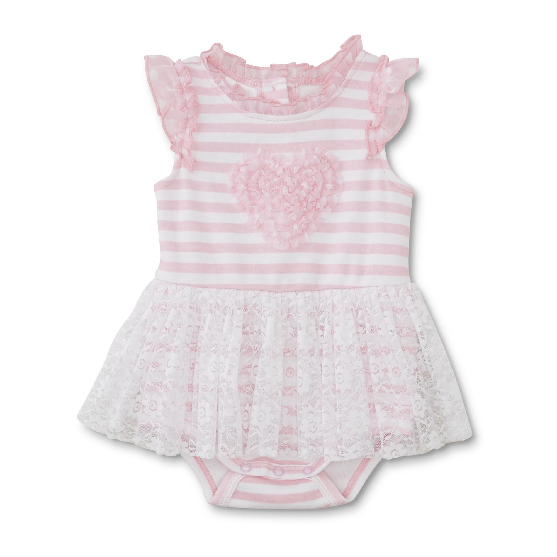 Small Wonders Newborn Girl's Skirted Bodysuit - Striped