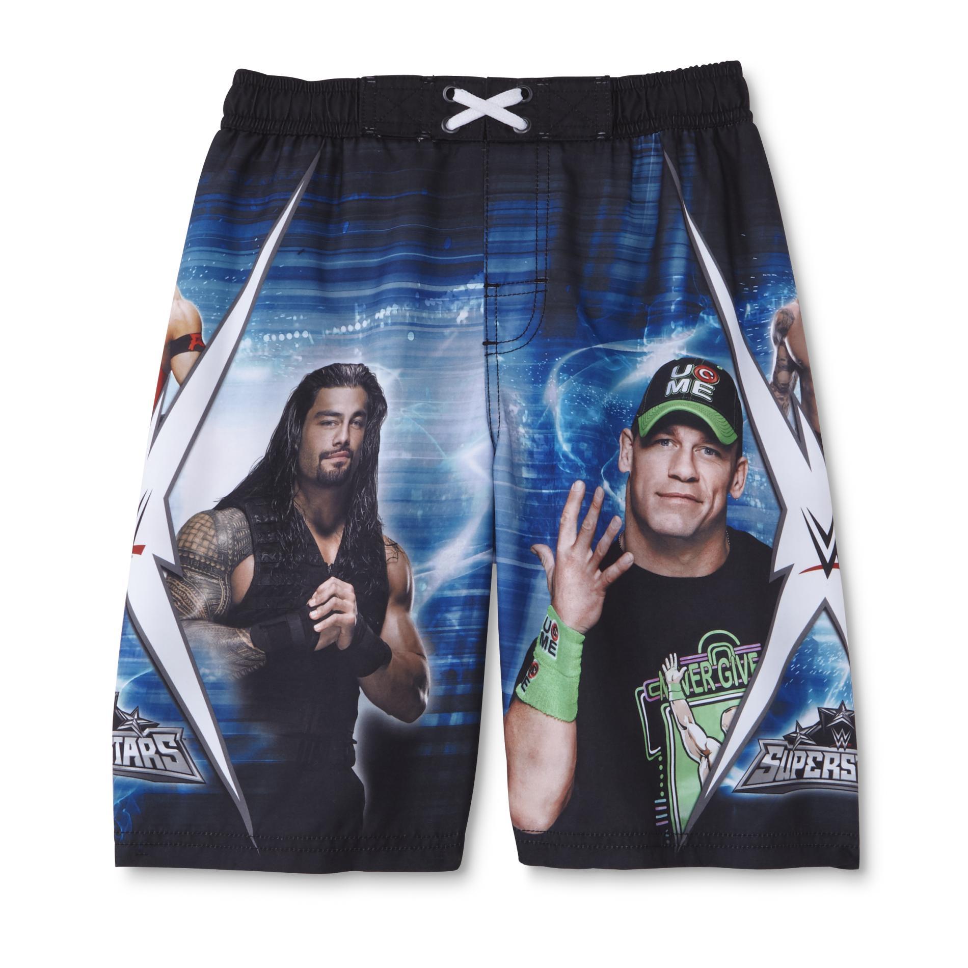 WWE Boy's Swim Boardshorts - Superstar Champions