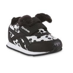 90d38fc05a6221 Reebok Toddler Girls  Royal Black White Dog Athletic Shoe