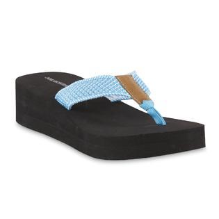 65908f8bd4e Joe Boxer Women s Majesty Platform Thong Sandal - Teal