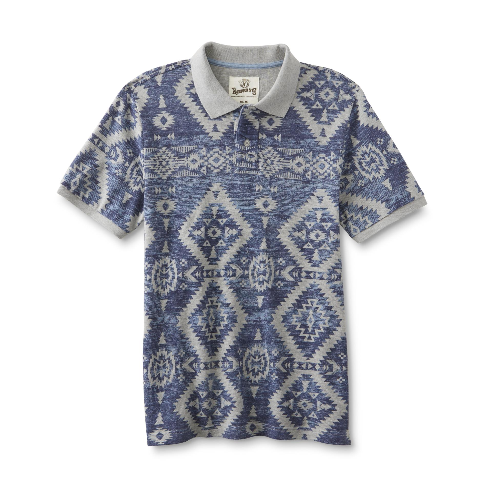 Young Men's Graphic Polo Shirt - Tribal